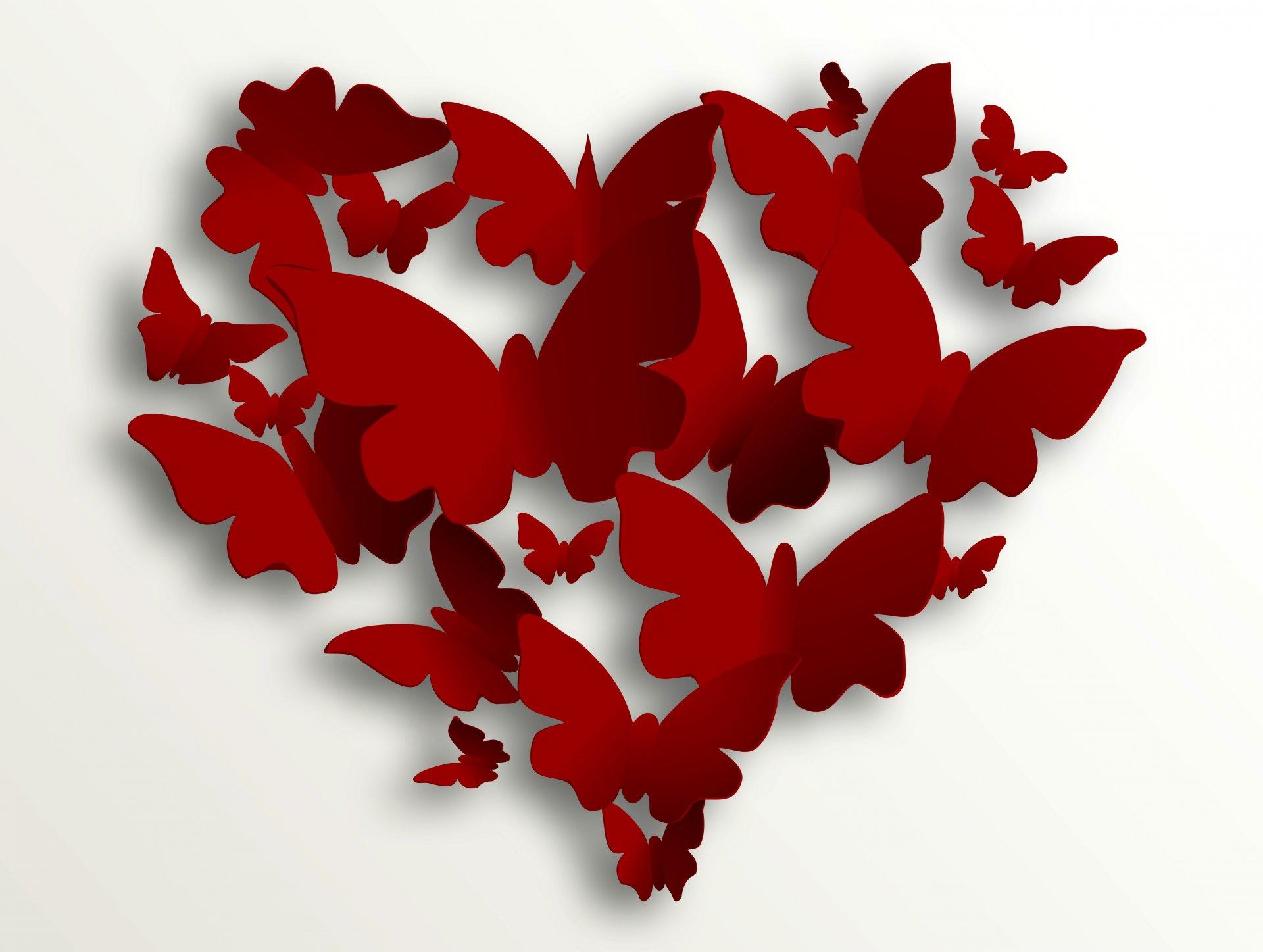 Картинки про любовь с бабочками