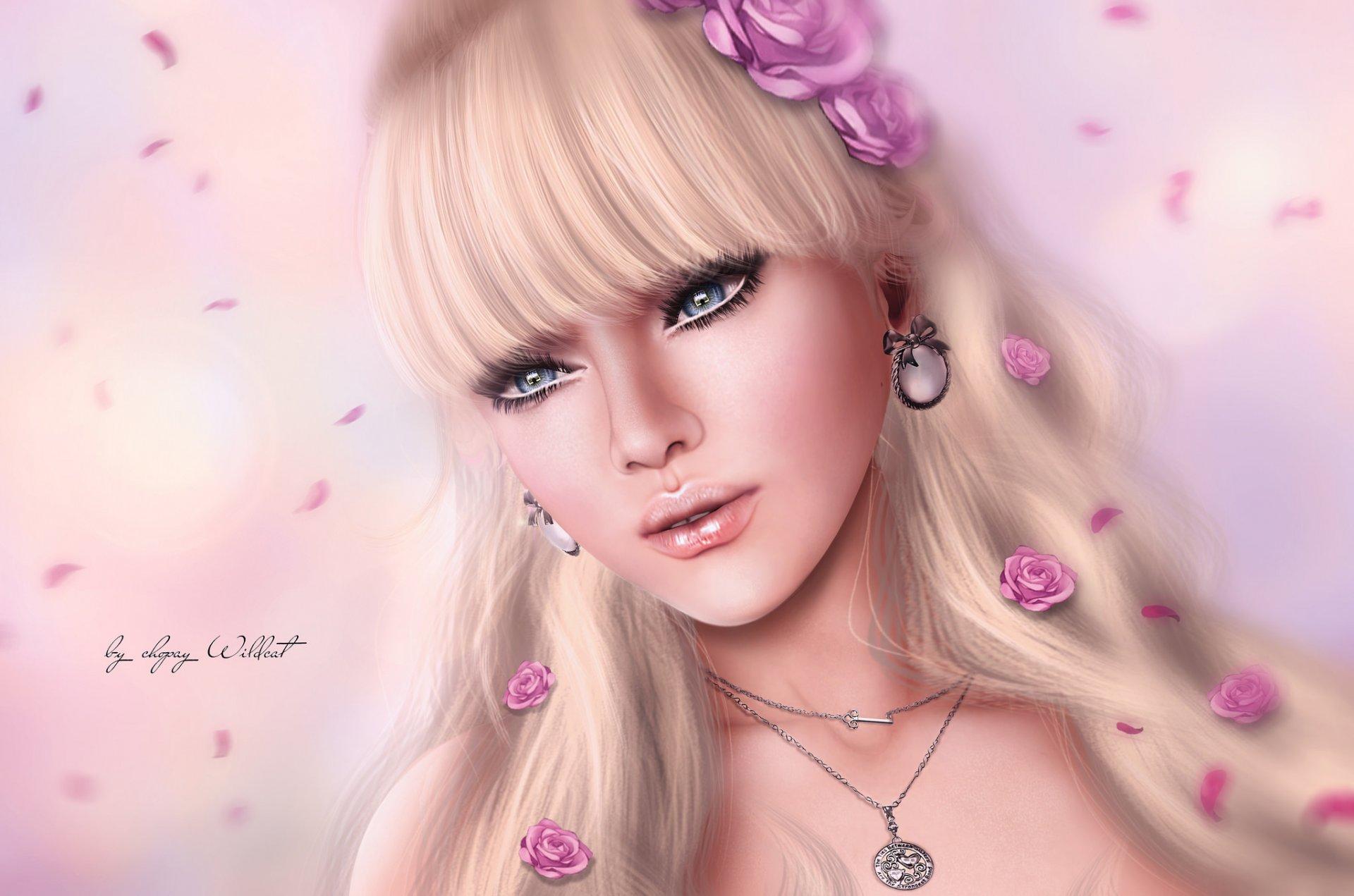 Картинки красивых девочек нарисованные очень красиво