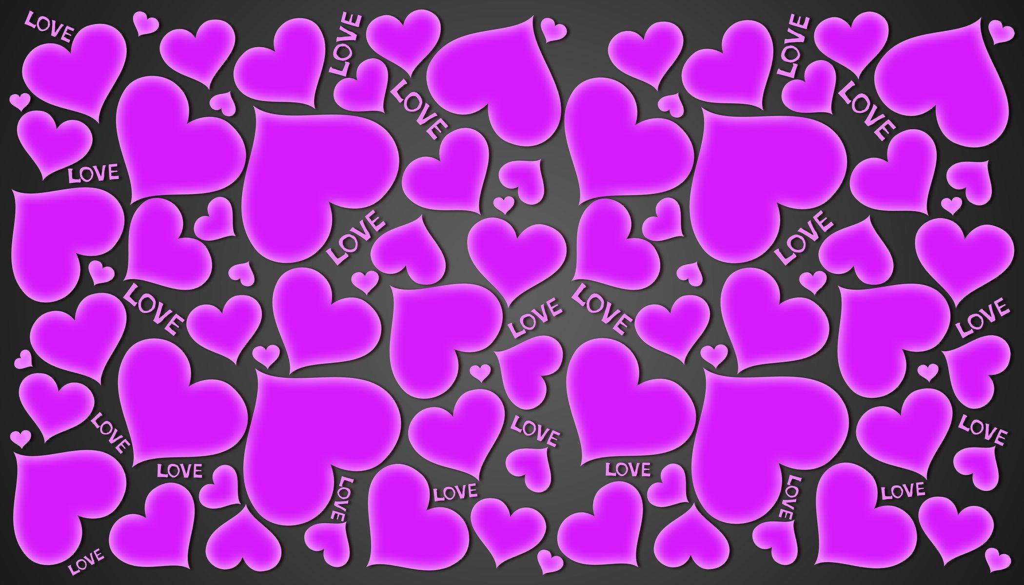 чтобы обои на телефон красивые фиолетовые сердечки любите носить