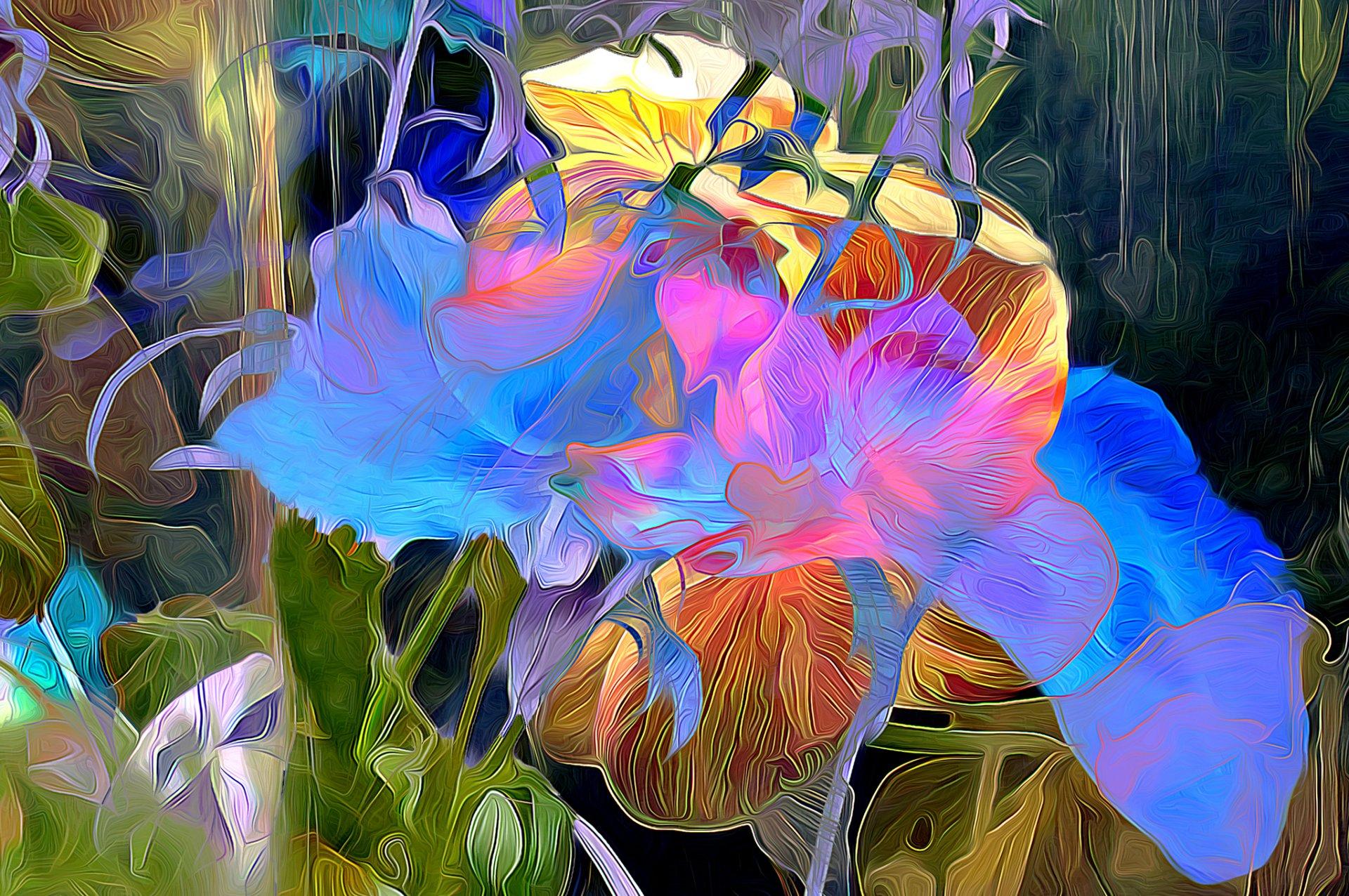 Обои краски, цветы. Абстракции foto 18