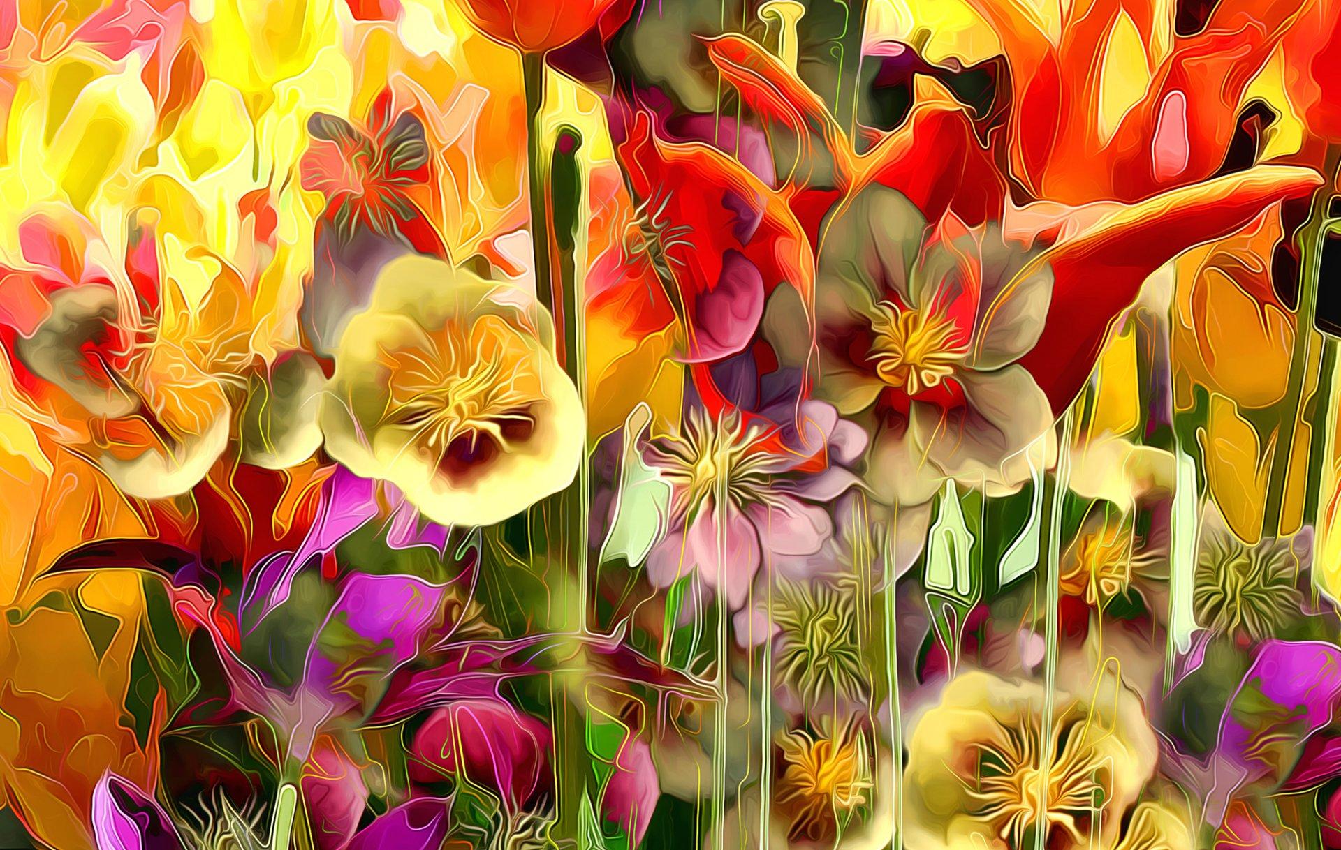 Обои краски, цветы. Абстракции foto 11