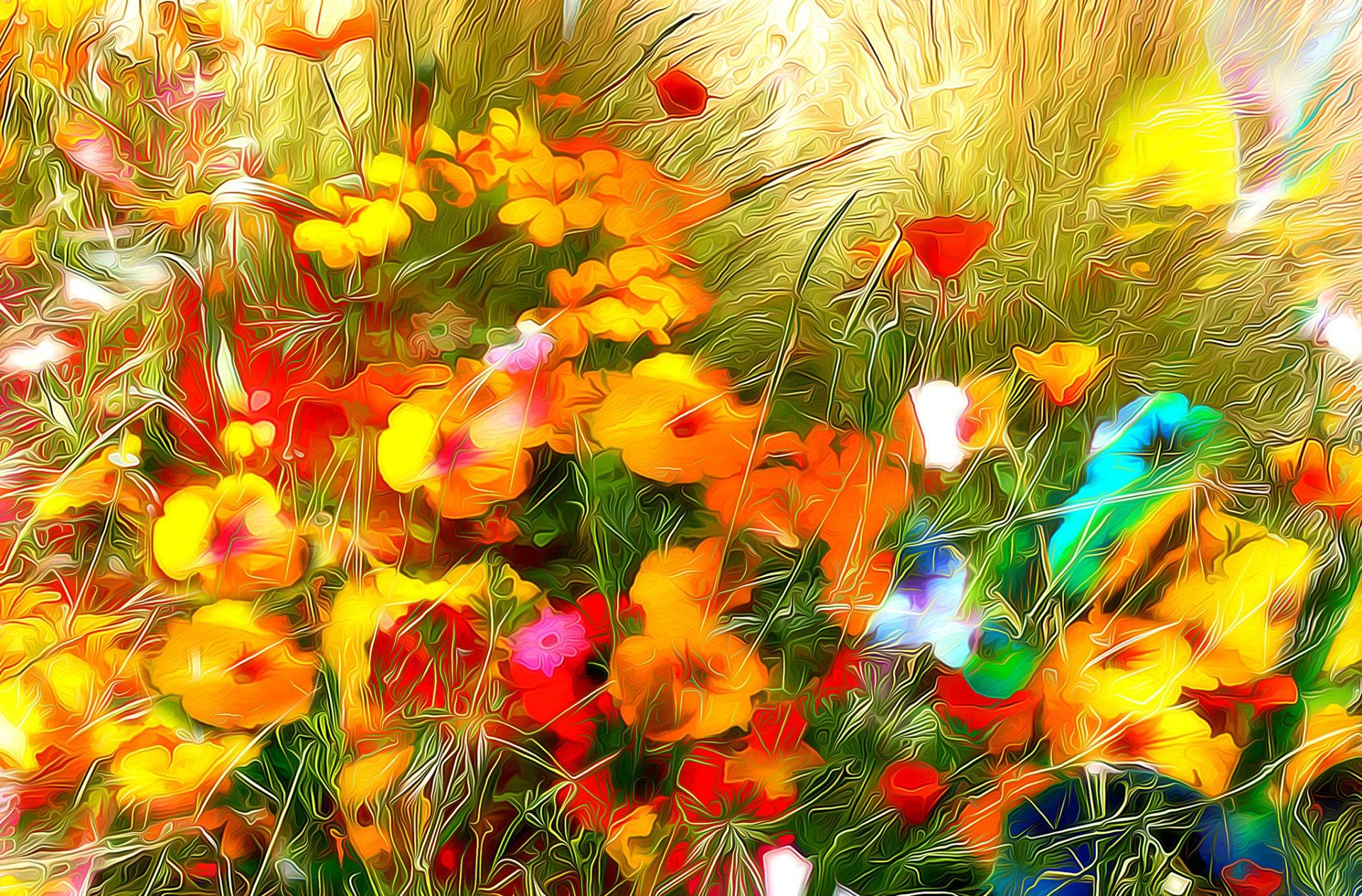 Картинка анимация разноцветные осенние краски, открытка днем рождения