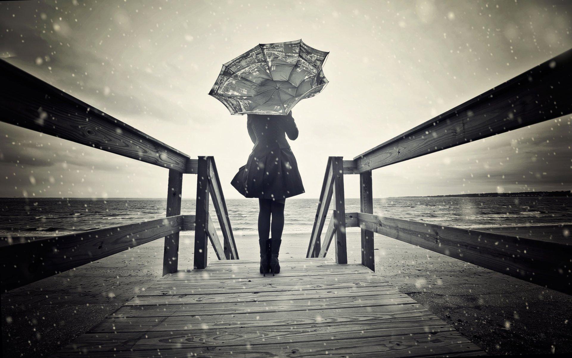 Картинки о дожде и грусти