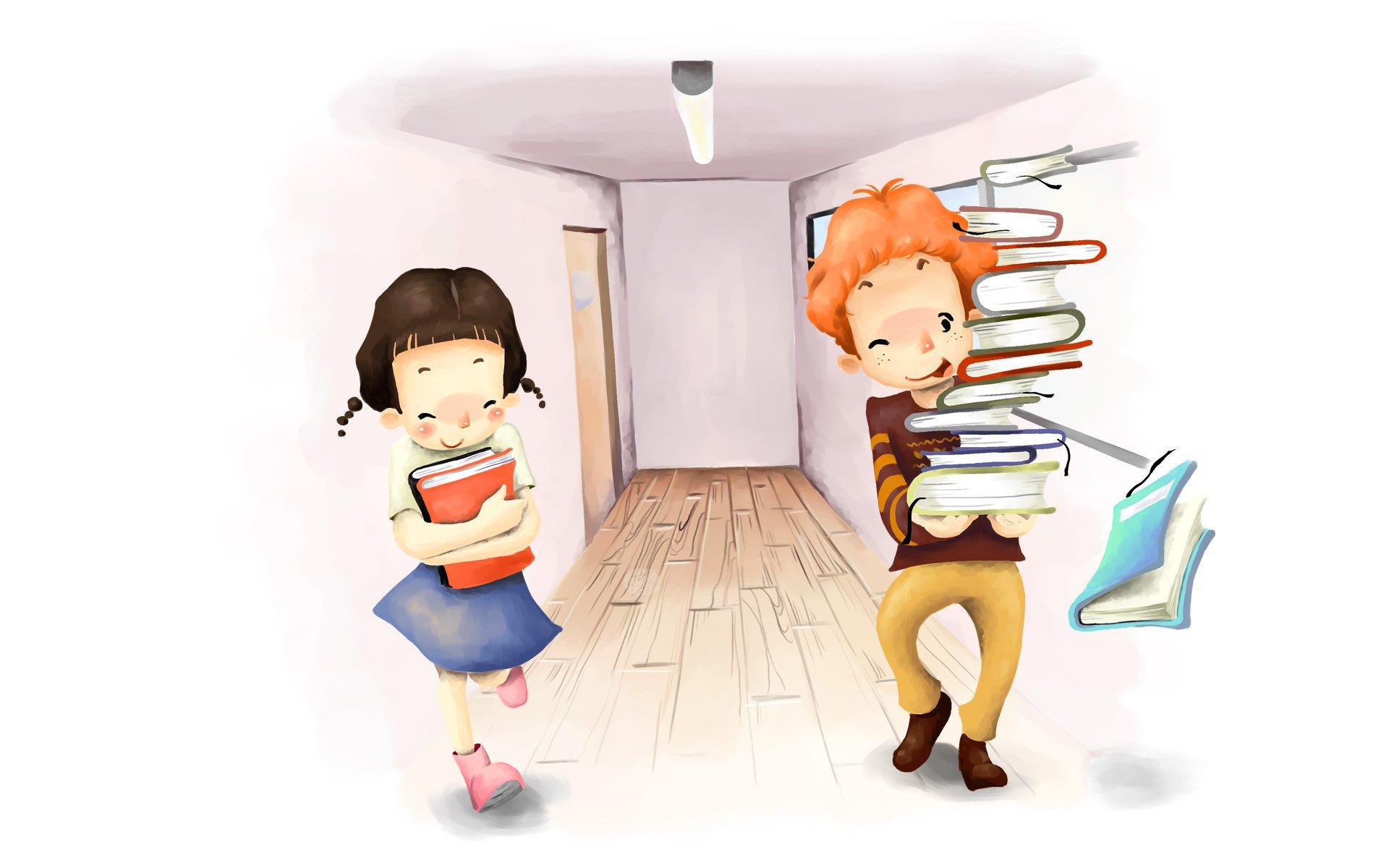 Картинки для детей девочка с книгой