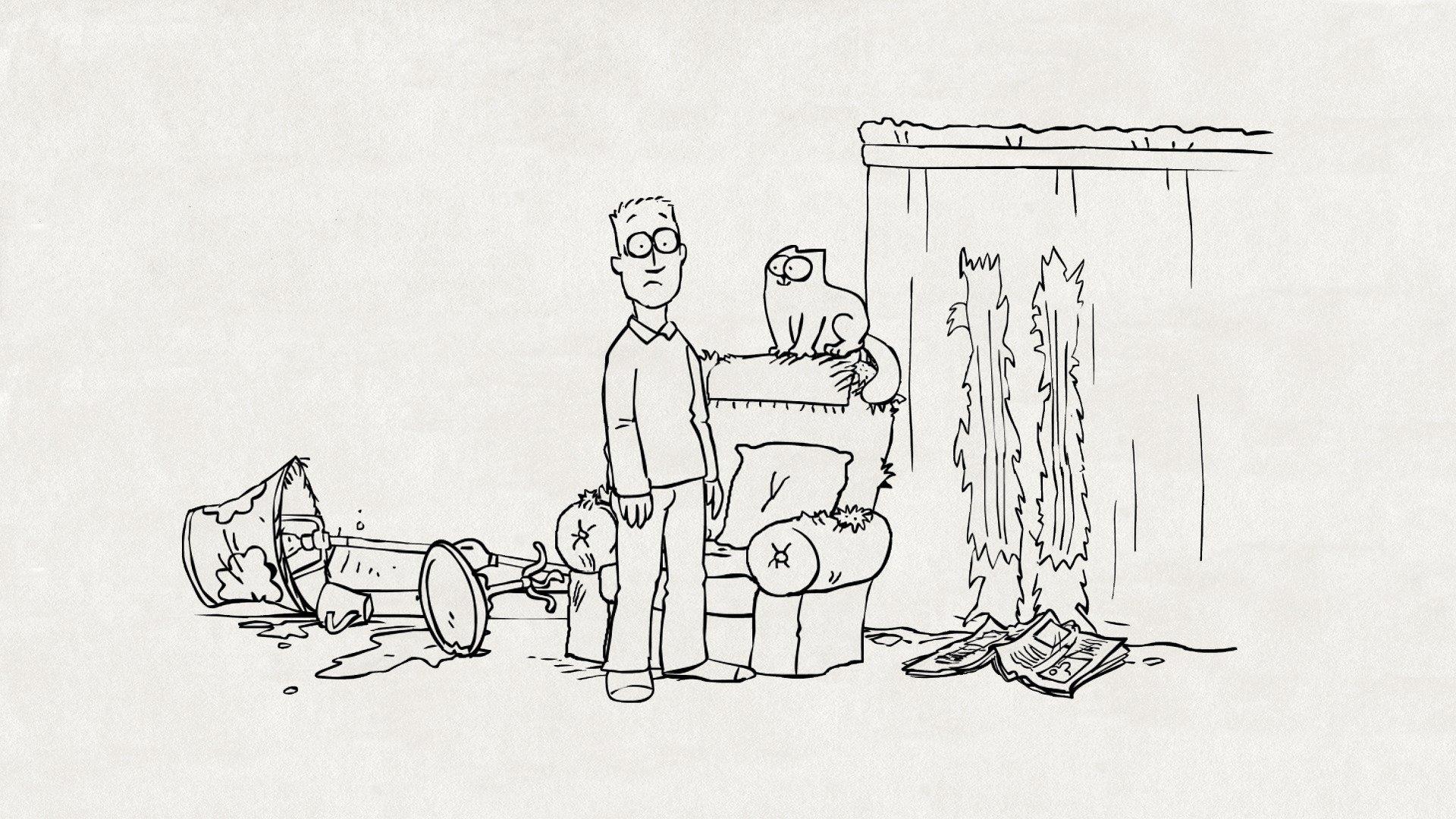 Мальчик прочитал предложения и сделал к ним смешные рисунки, тему мая день