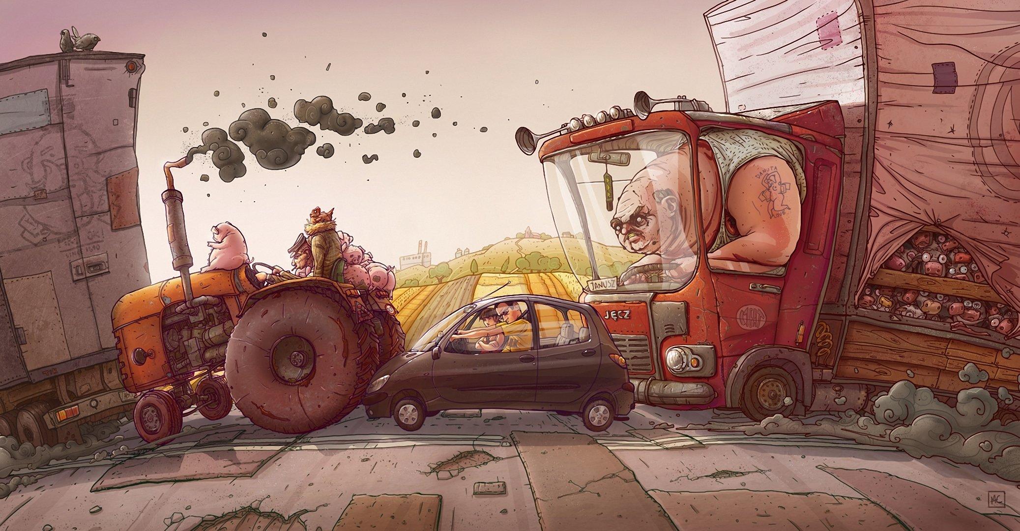 Открытку, прикольные картинки автомобильного транспорта