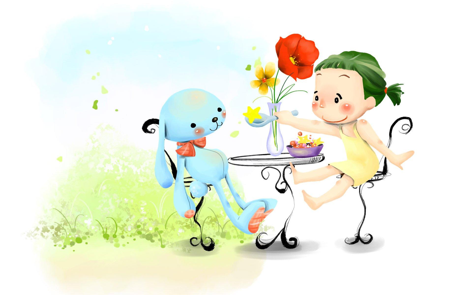 Смешные мультяшные картинки с детьми
