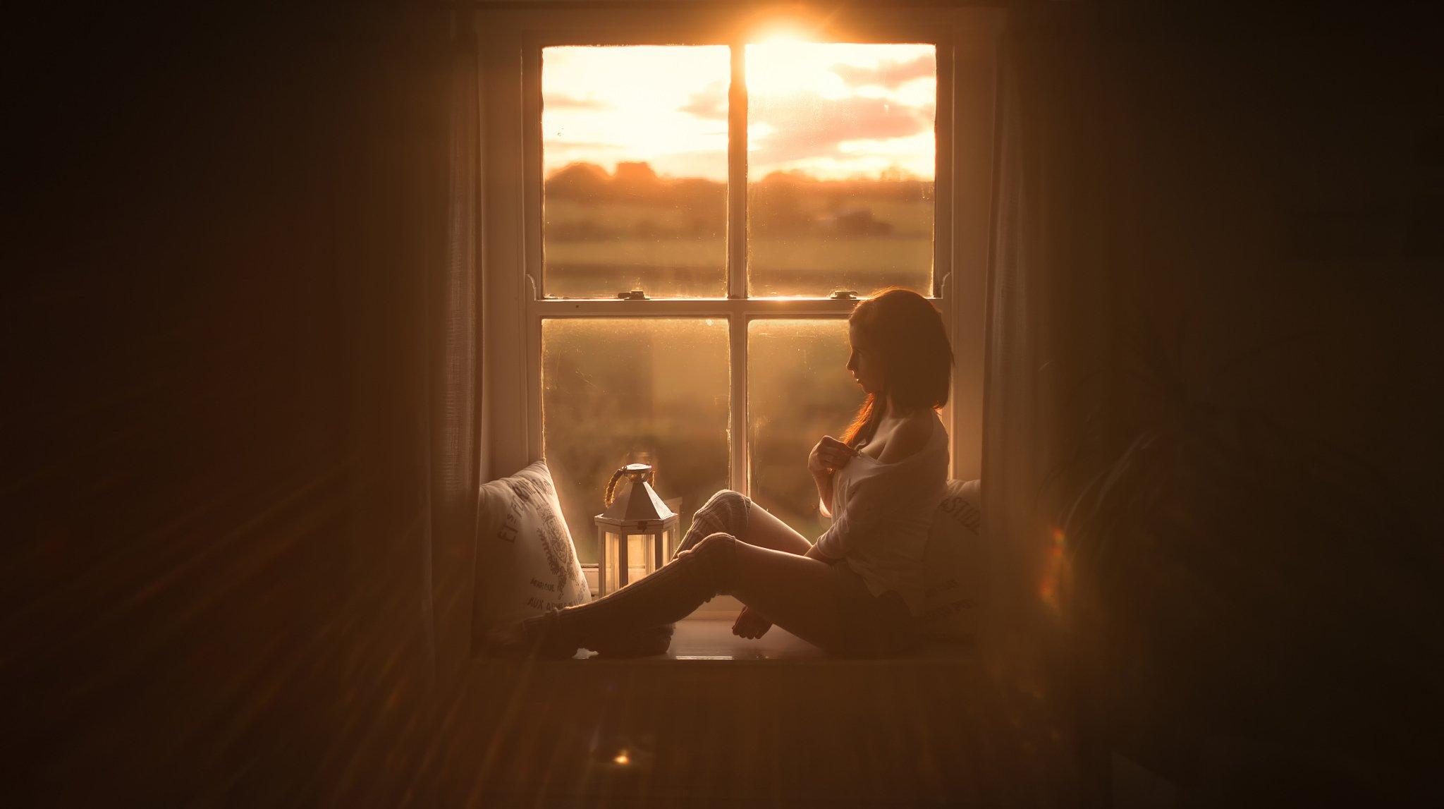 красотка,окно,сидит,кофе  № 418209  скачать