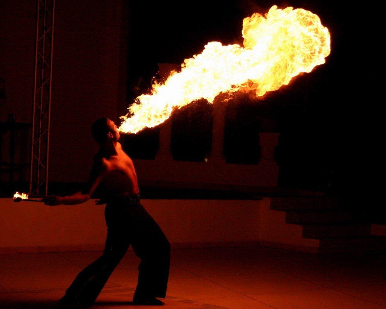 Как сделать фото за огнем