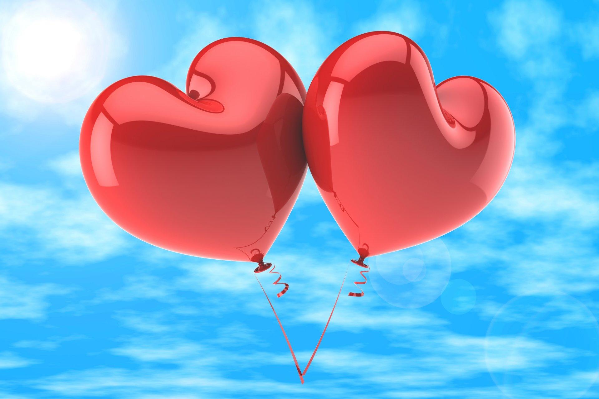 Лет совместной, открытки с сердечками и шариками