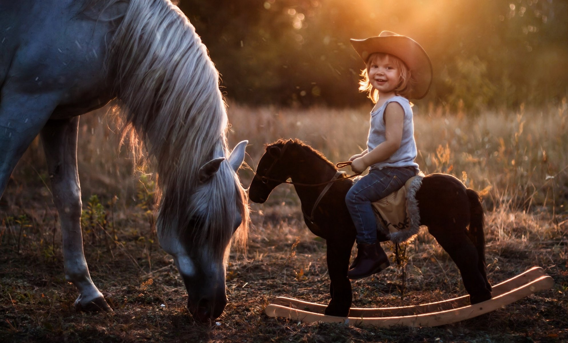 Красивые фото детей с лошадьми