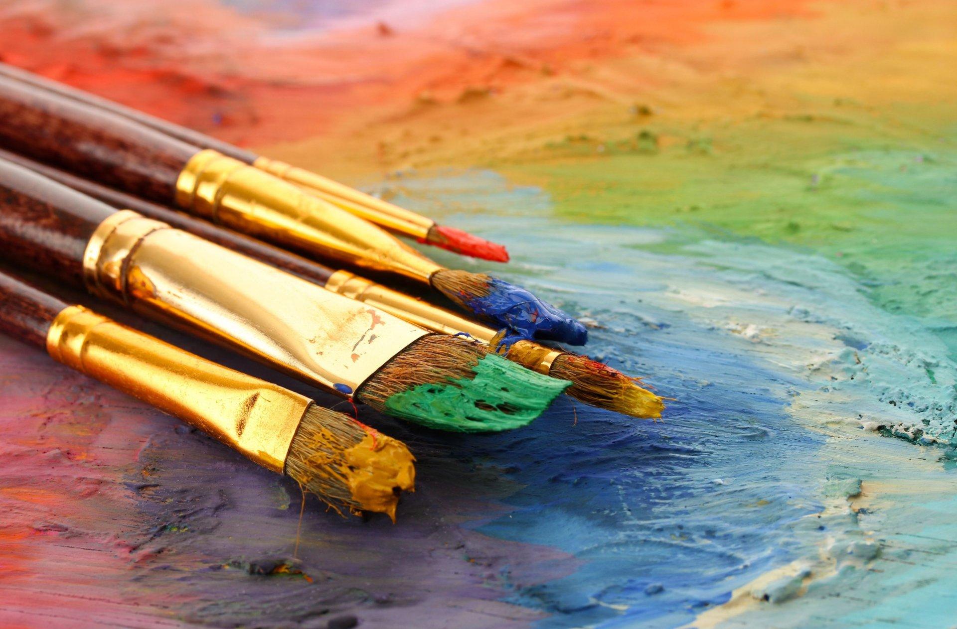картинки художник кисточки большим счастьем
