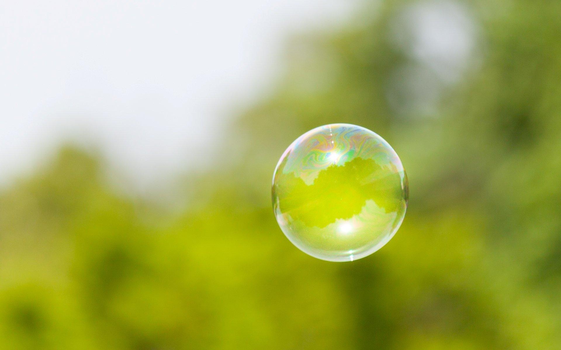 Обои для рабочего стола плавающие пузыри