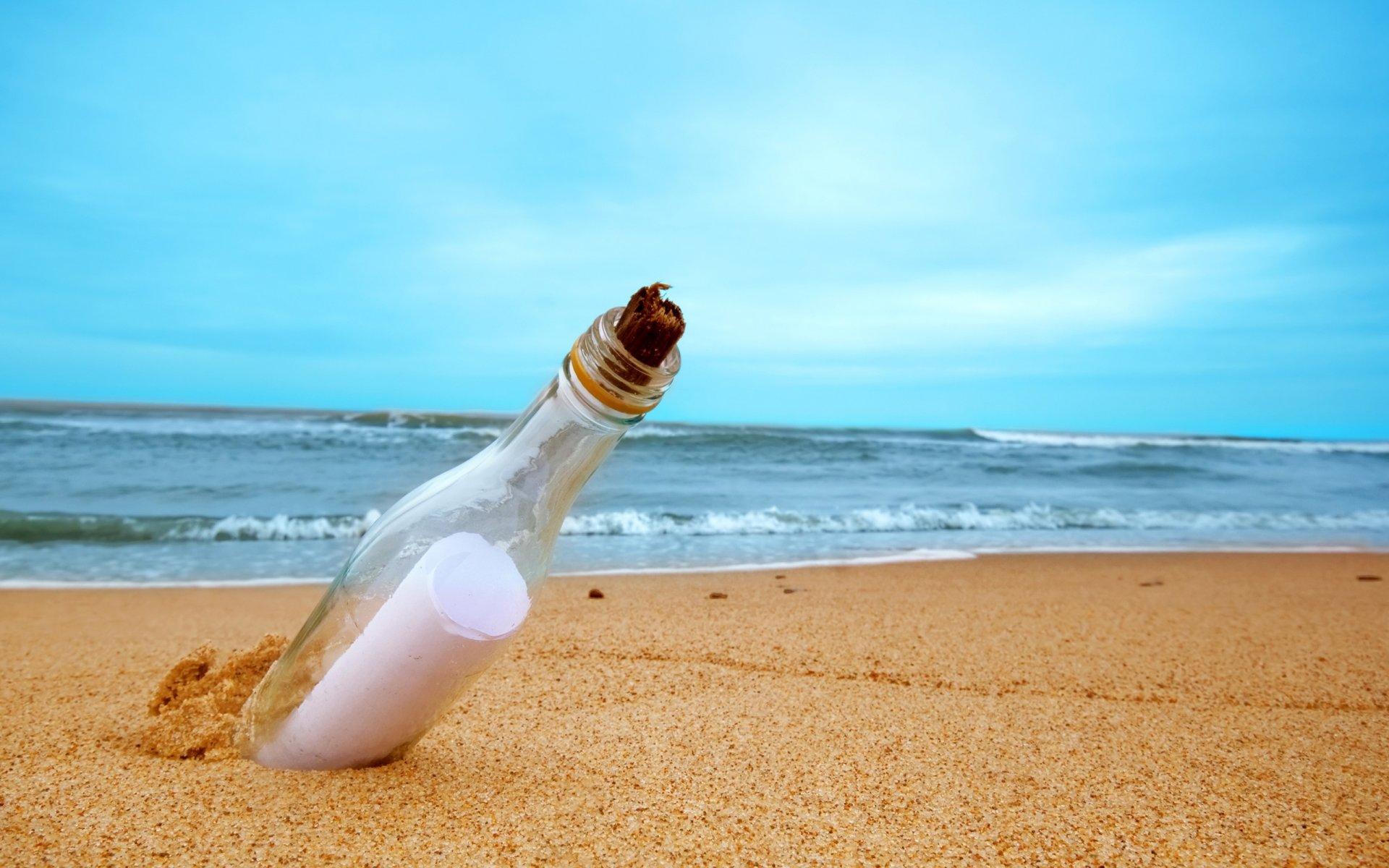бутылка с запиской  № 2294749 загрузить