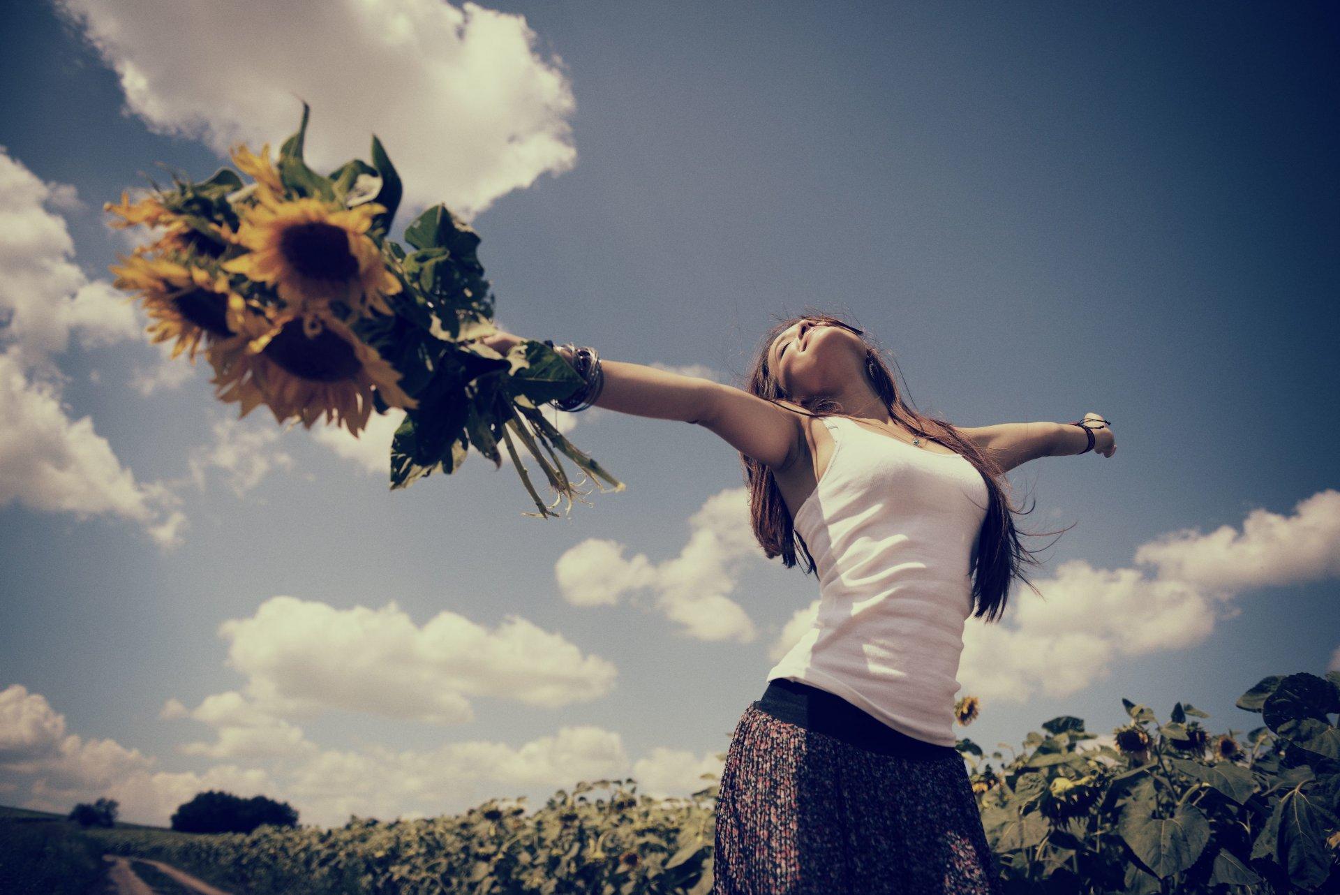 Картинки лето счастье девушка