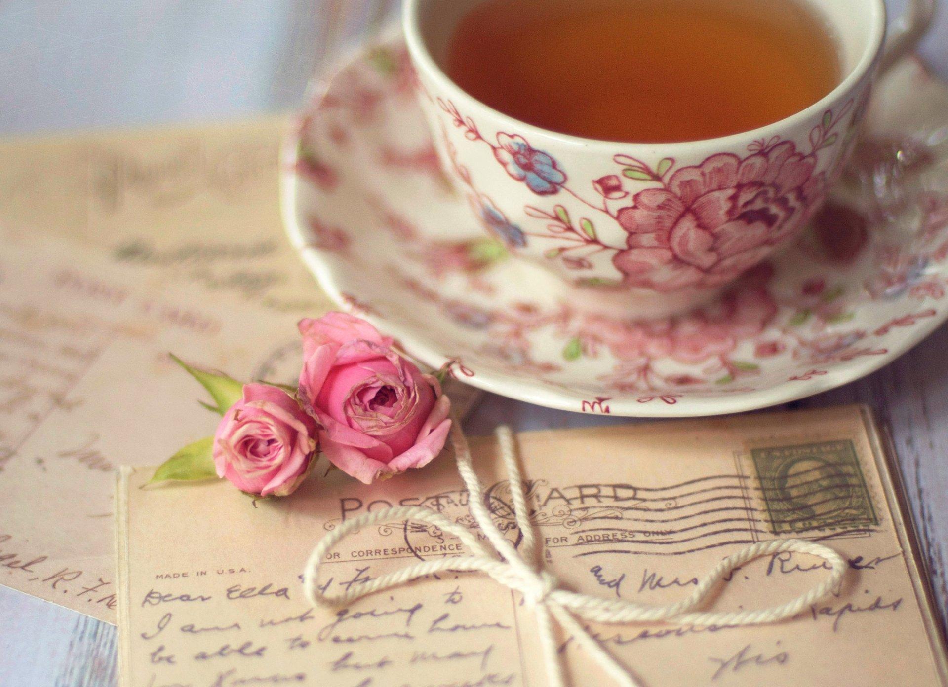 Открытки с кружкой чая