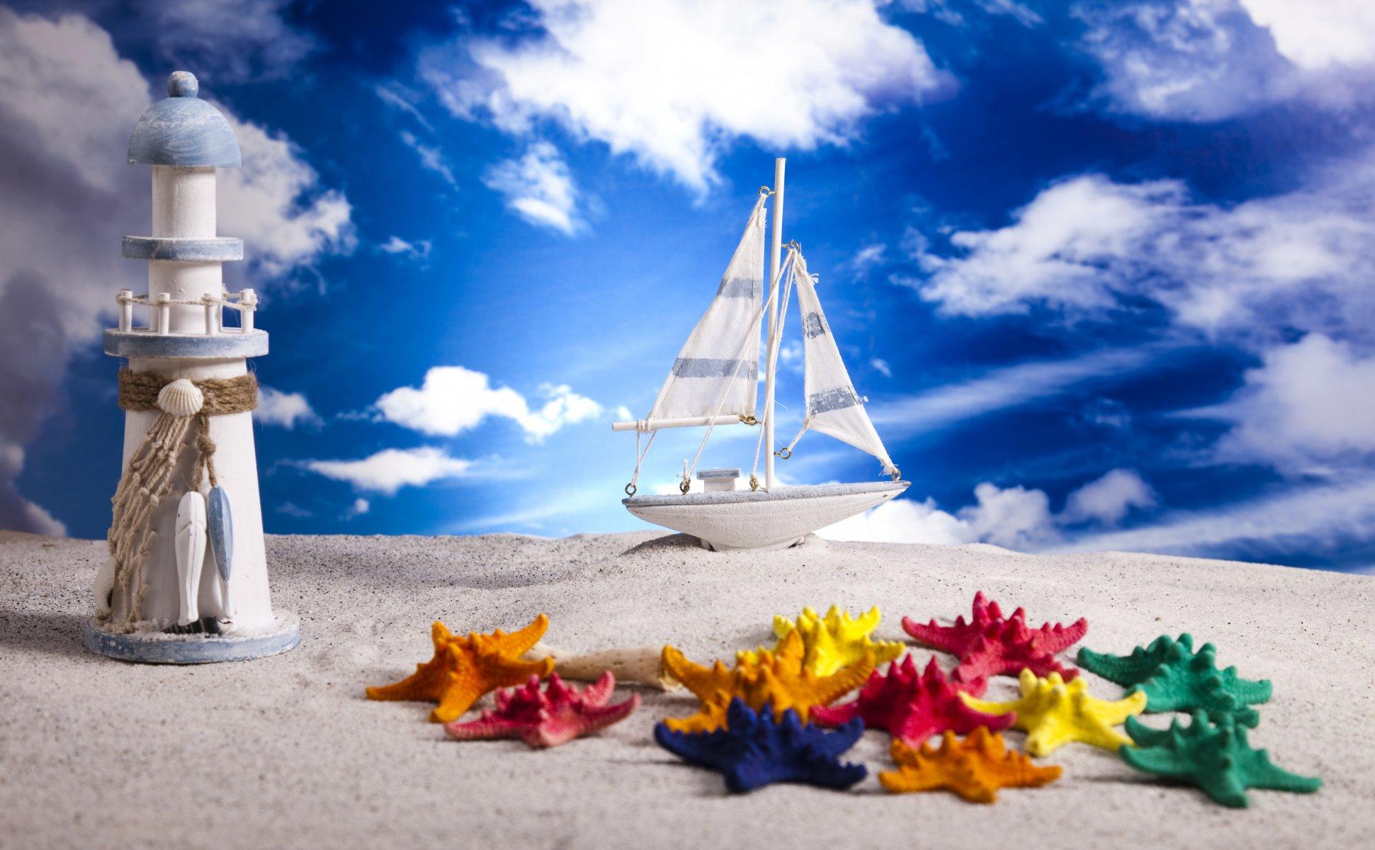Свидания детский, открытка море небо