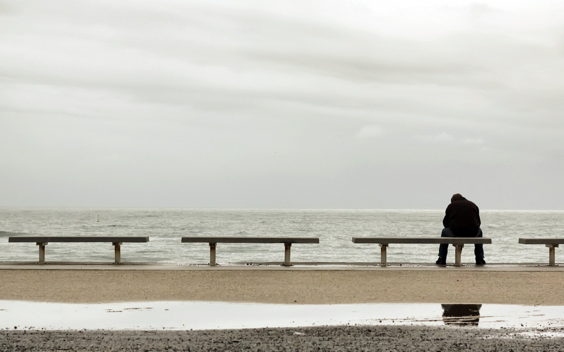 Обои страх, Девочка, холод, одиночество, улица. Настроения foto 13