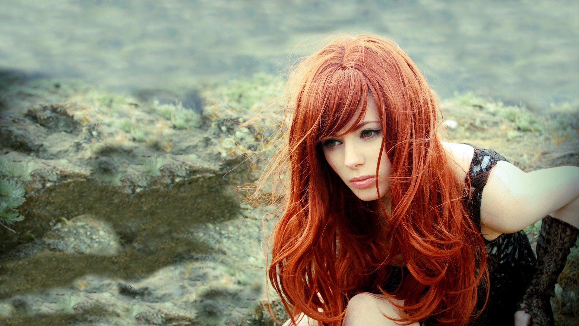 Рыжие волосы фото у смуглых девушек