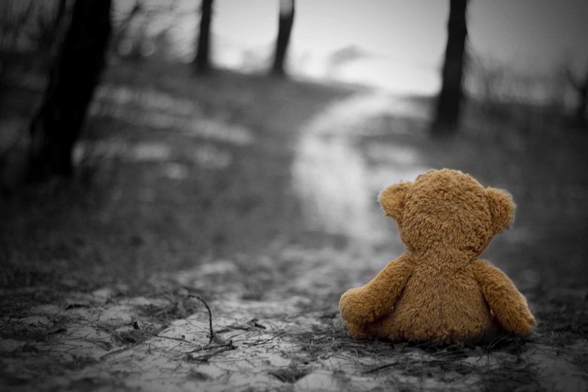 Обои страх, Девочка, холод, одиночество, улица. Настроения foto 17