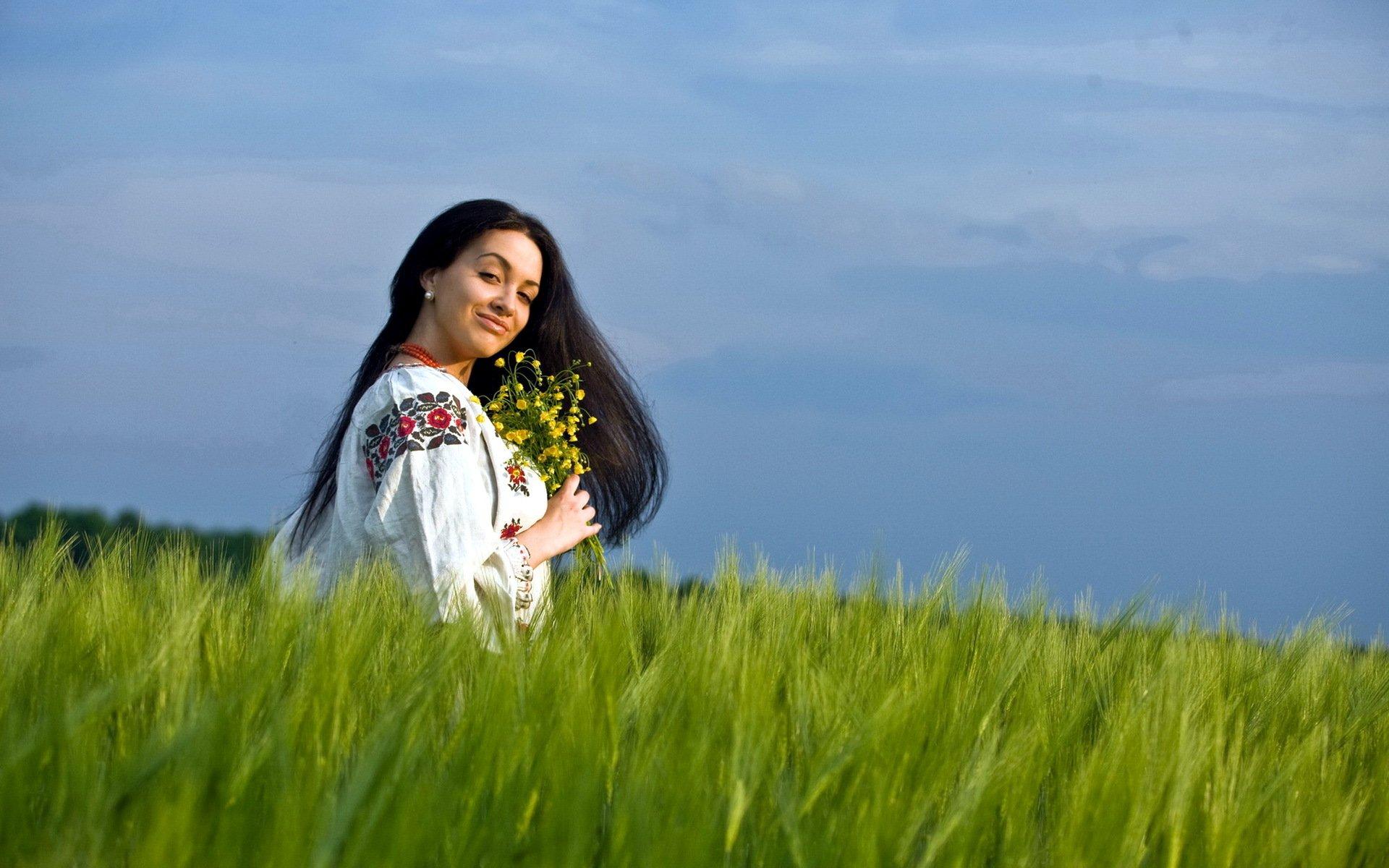 Казашки на природе русское