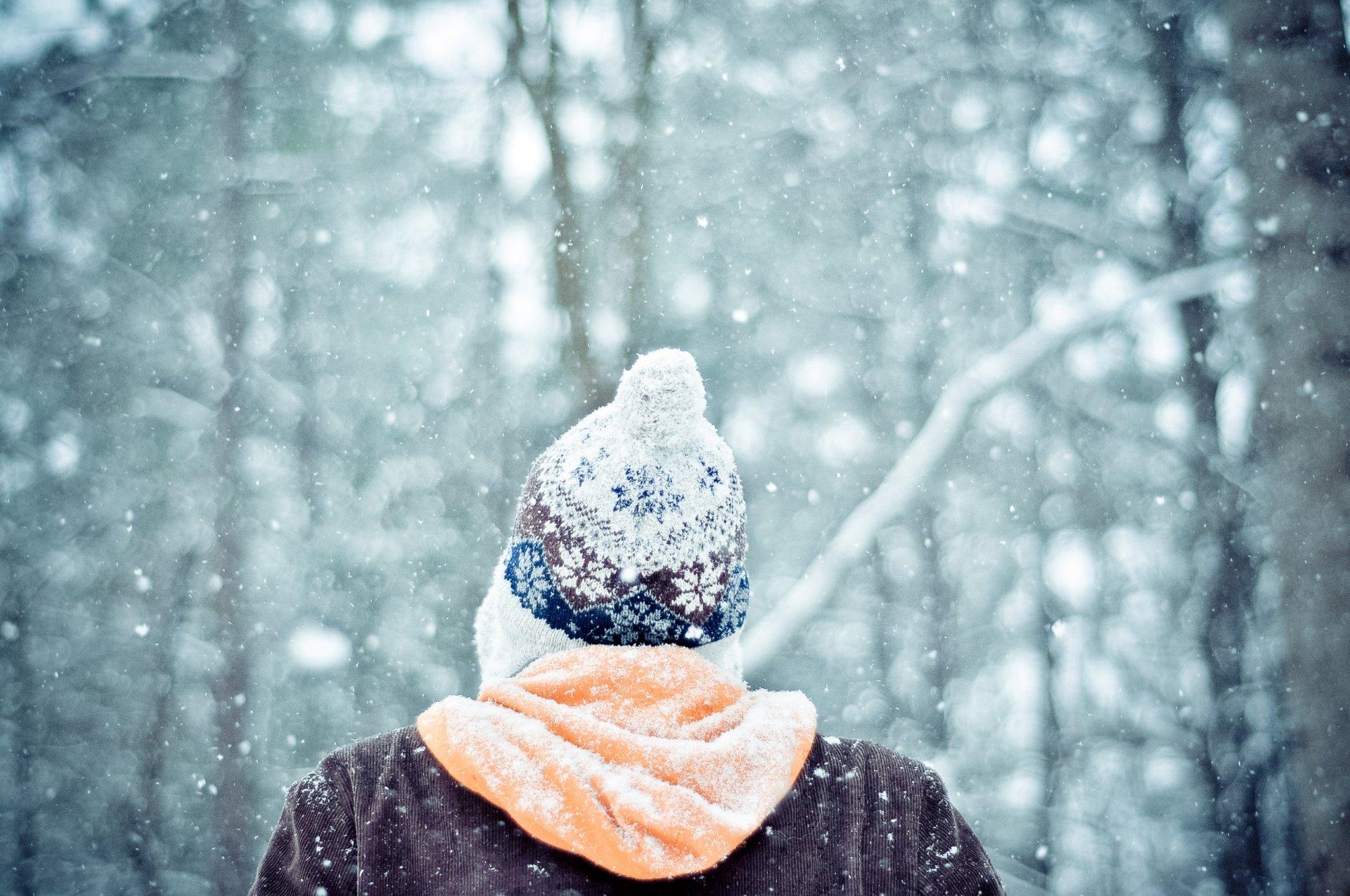 Фото девушки фото сзади на аву зимой с
