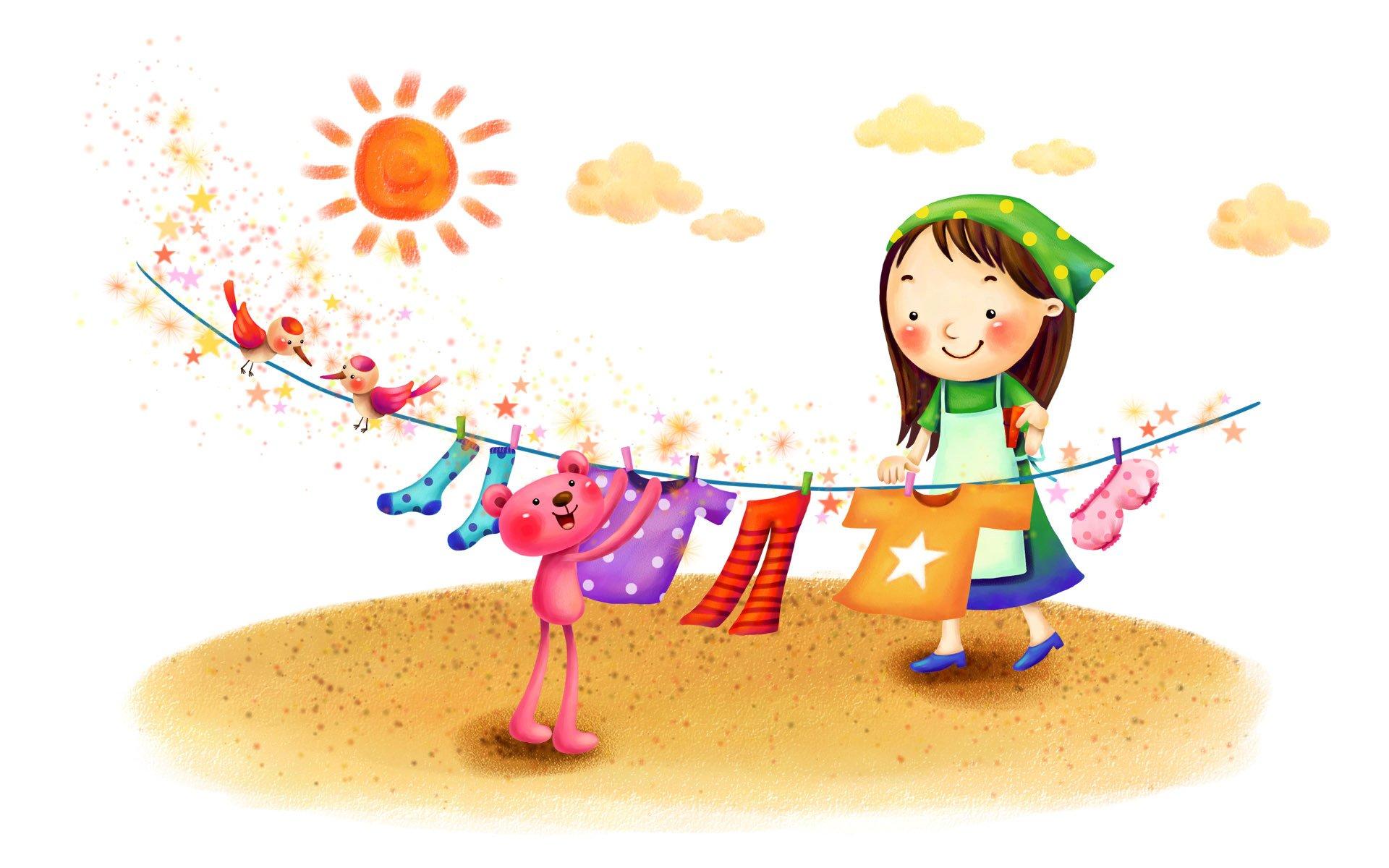 Смешные мультяшные детские картинки, рисованные девушками полный