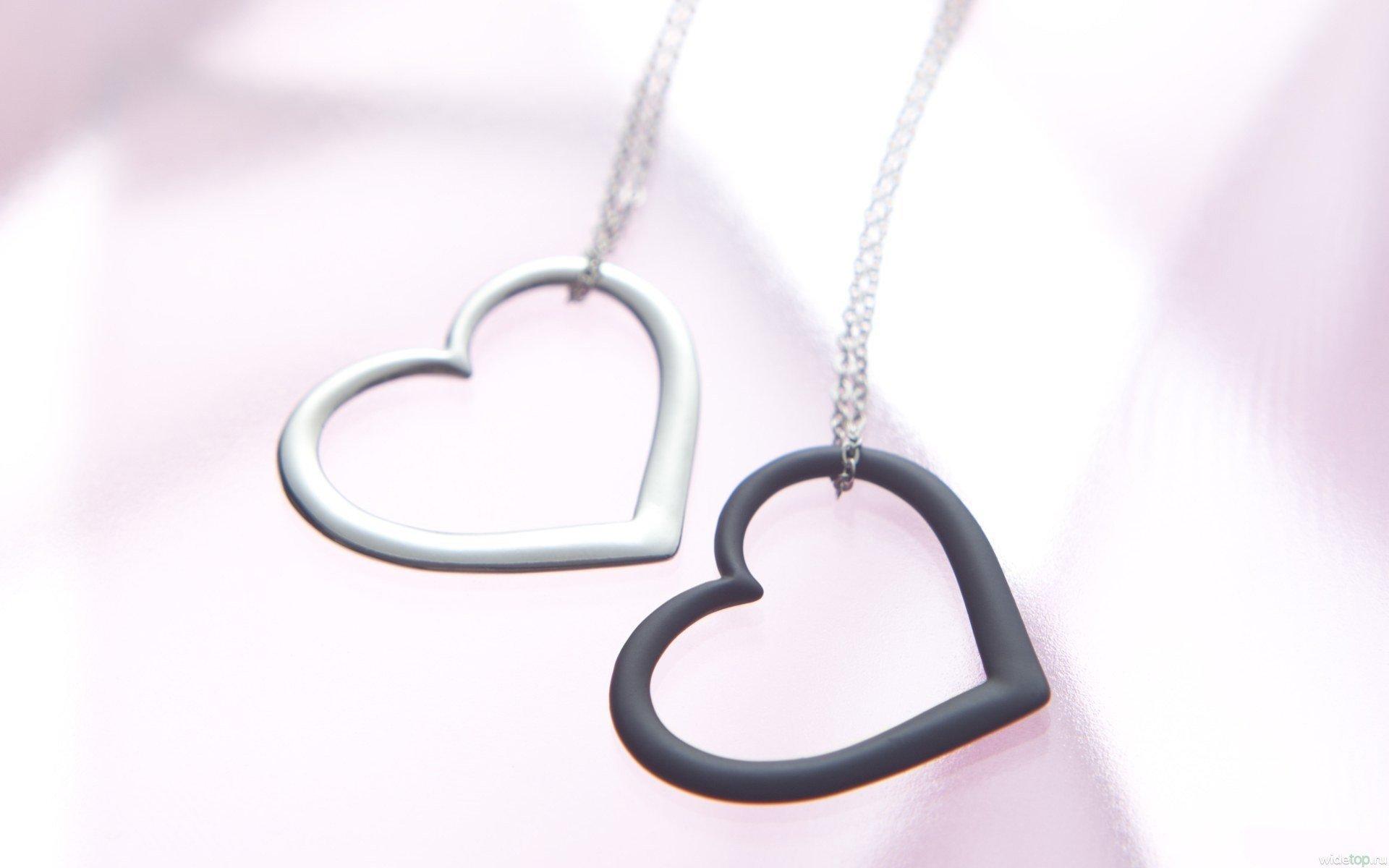 Кулон цепочка сердце  № 2880126 бесплатно
