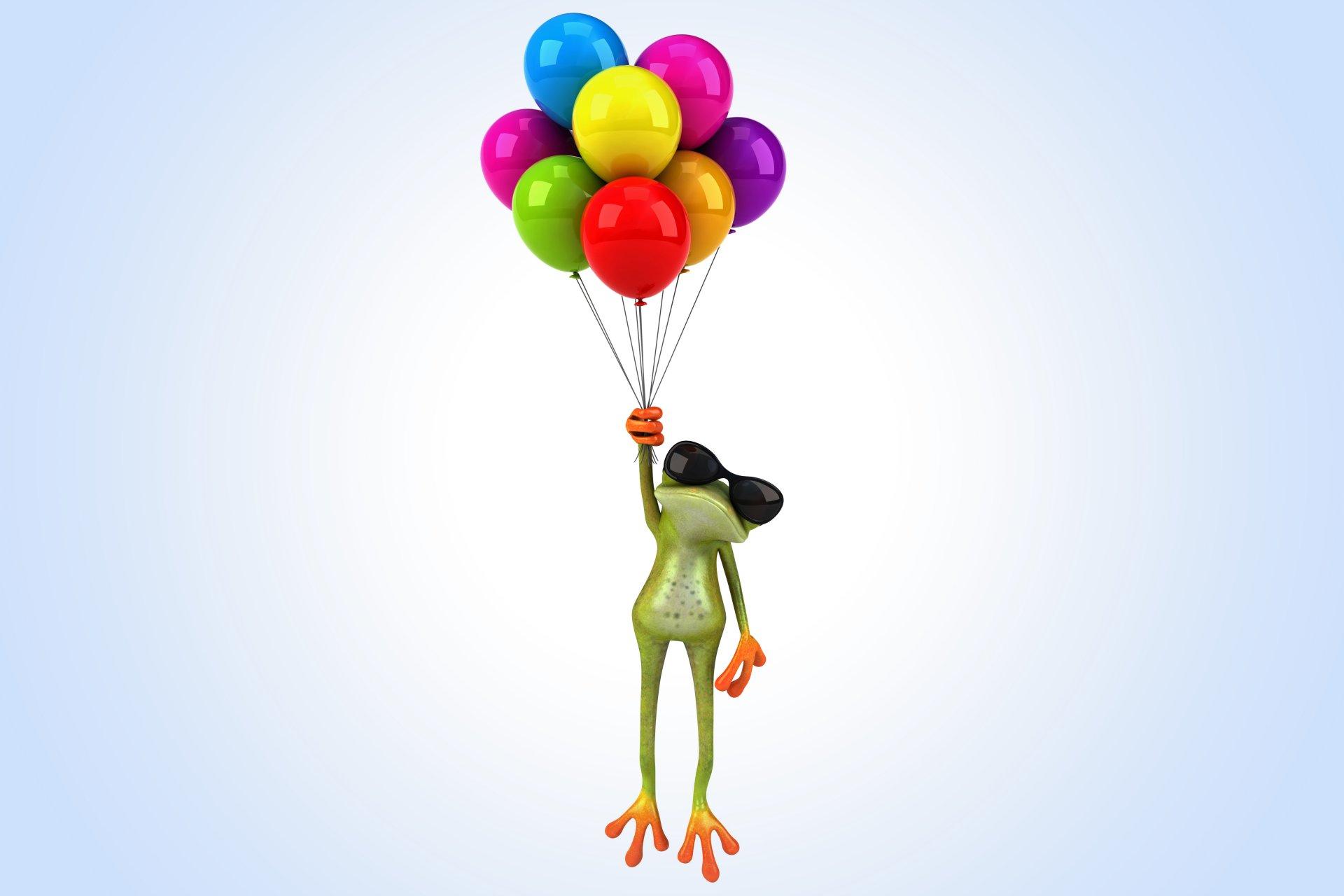 Прикольные картинки с шариками на день рождения