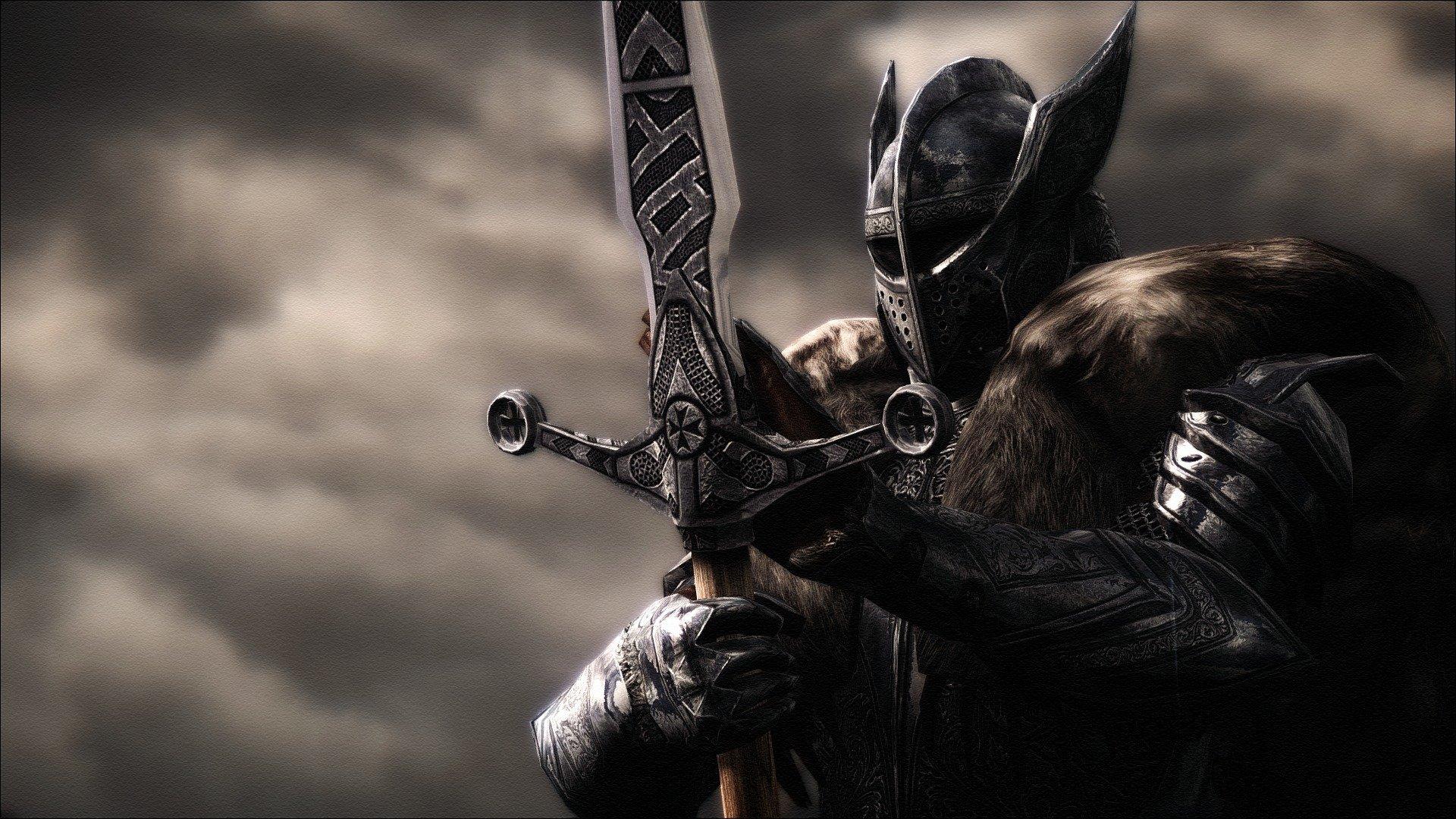 плитка картинки на рабочий стол воин с мечом любимым сказочными