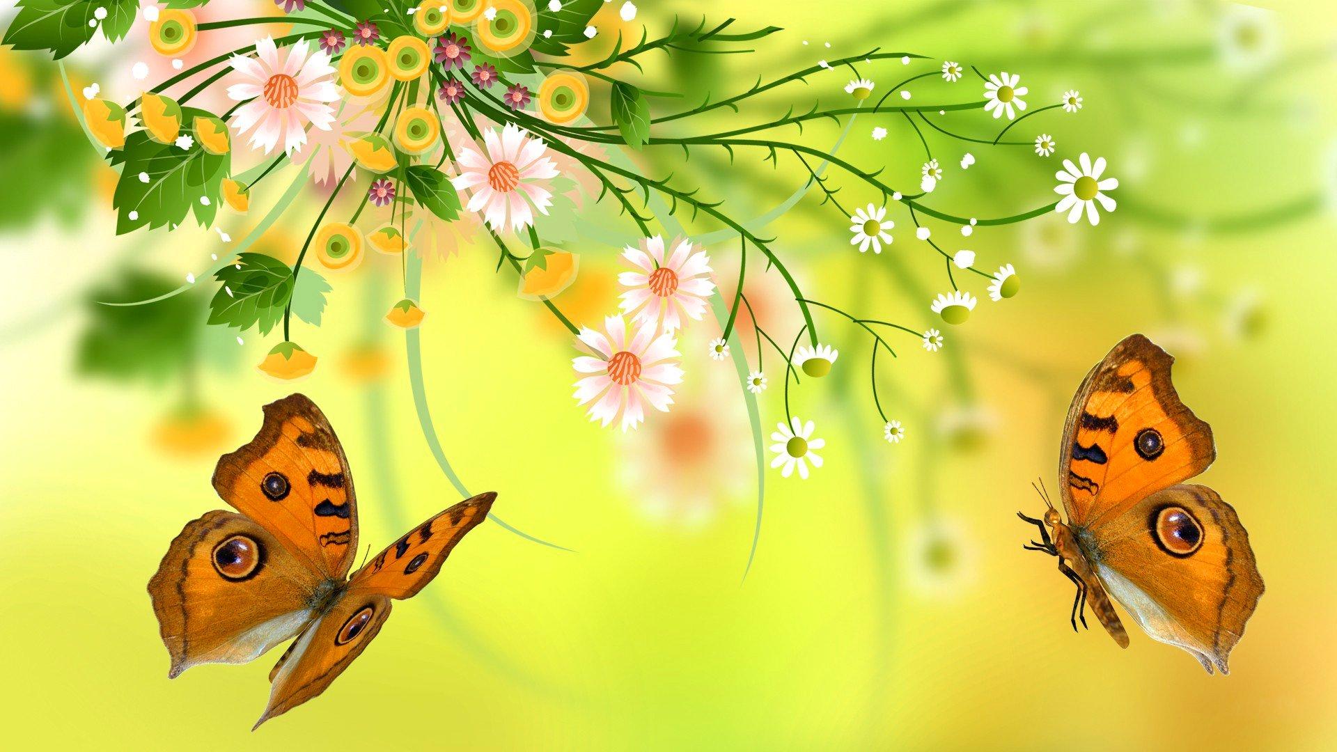 бабочки из лепестков  № 2303844  скачать
