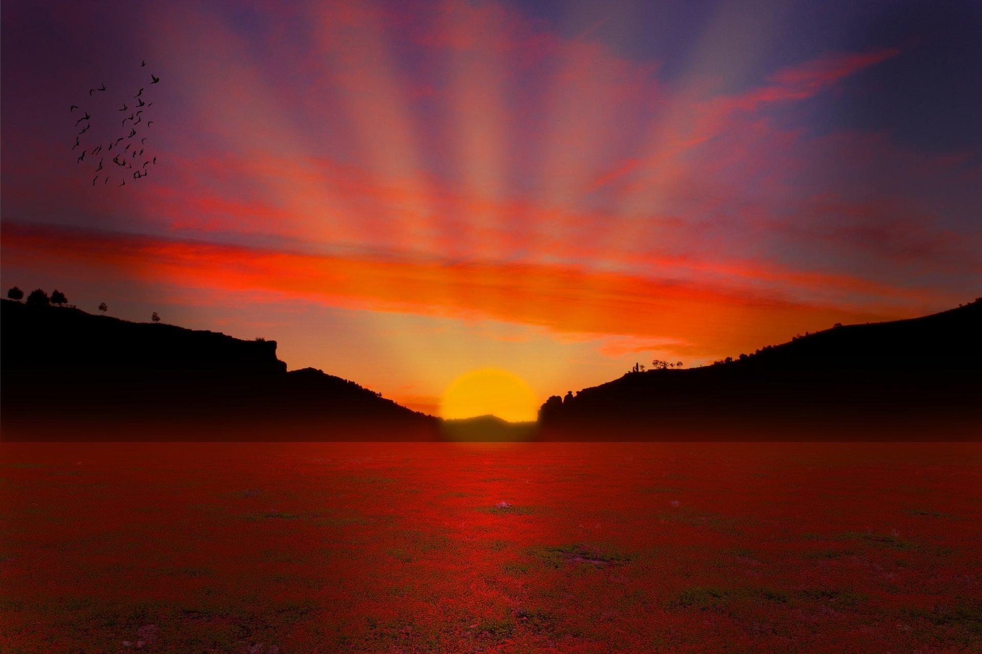 Картинки закат солнца