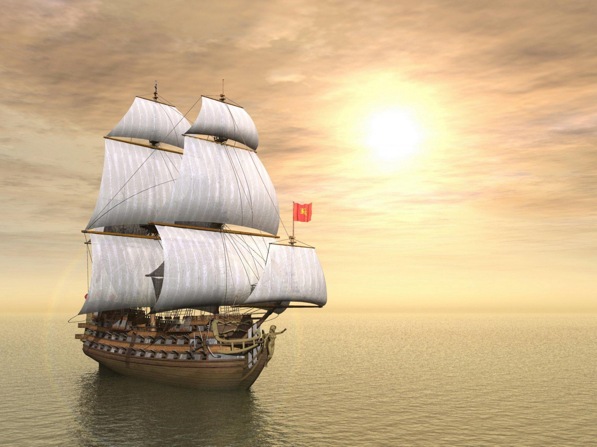 Напольная, открытки с кораблем и морем