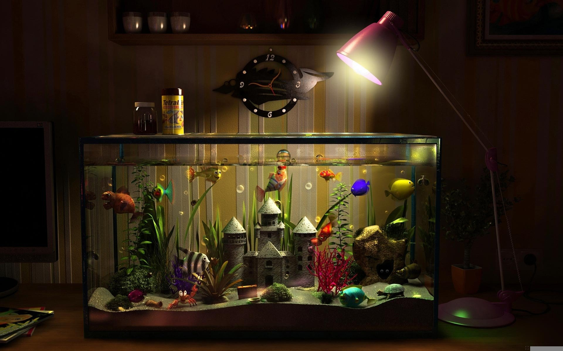 Имитация аквариума дизайн рисунки