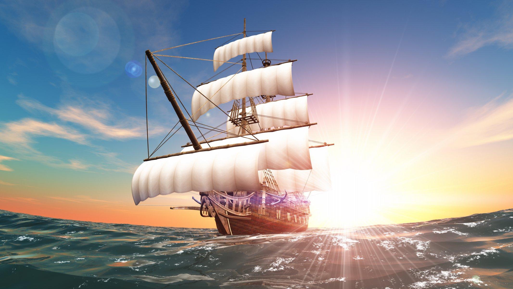 Обои паруса, корабль. Разное foto 13