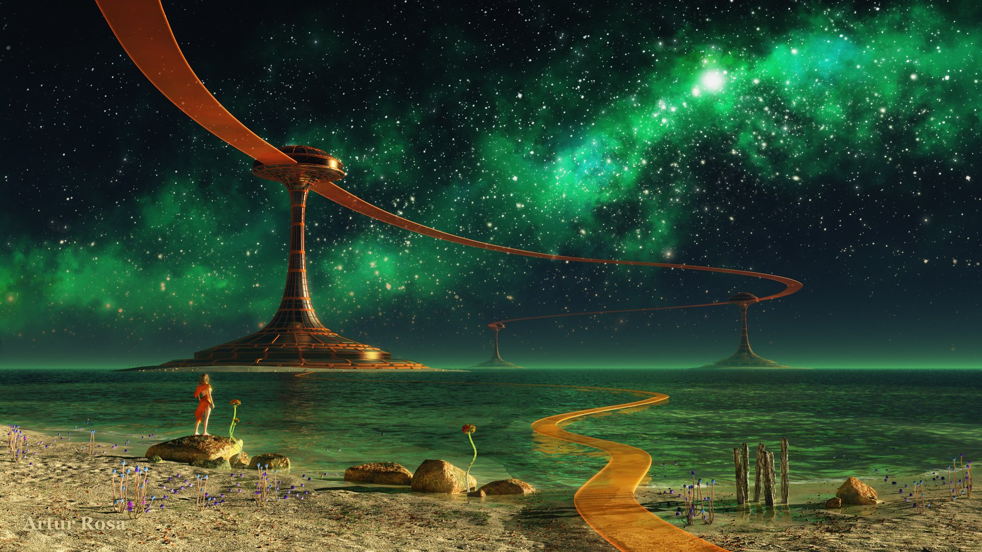 Дорога к другой планете на телефон