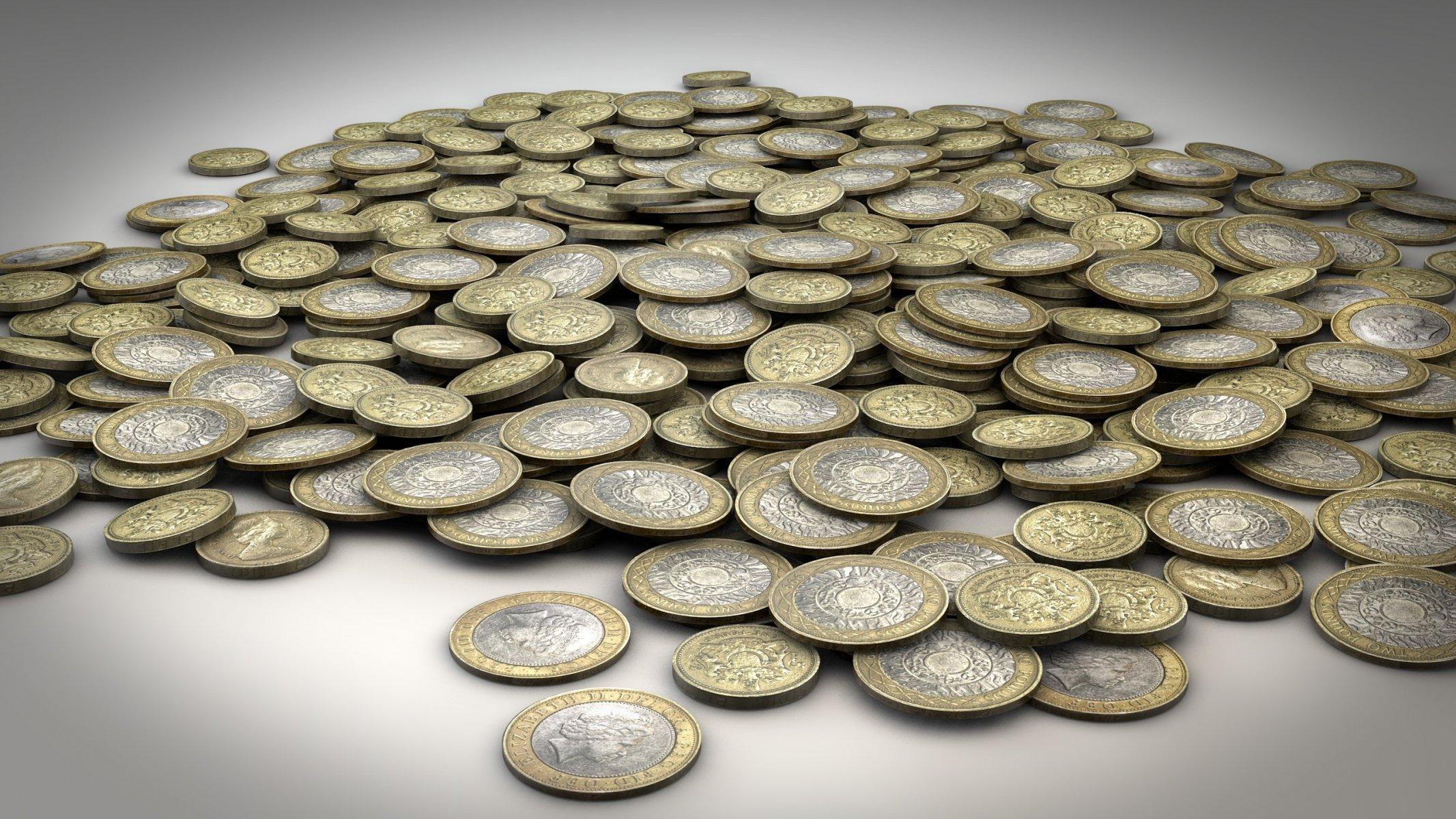 картинка монет много вместо