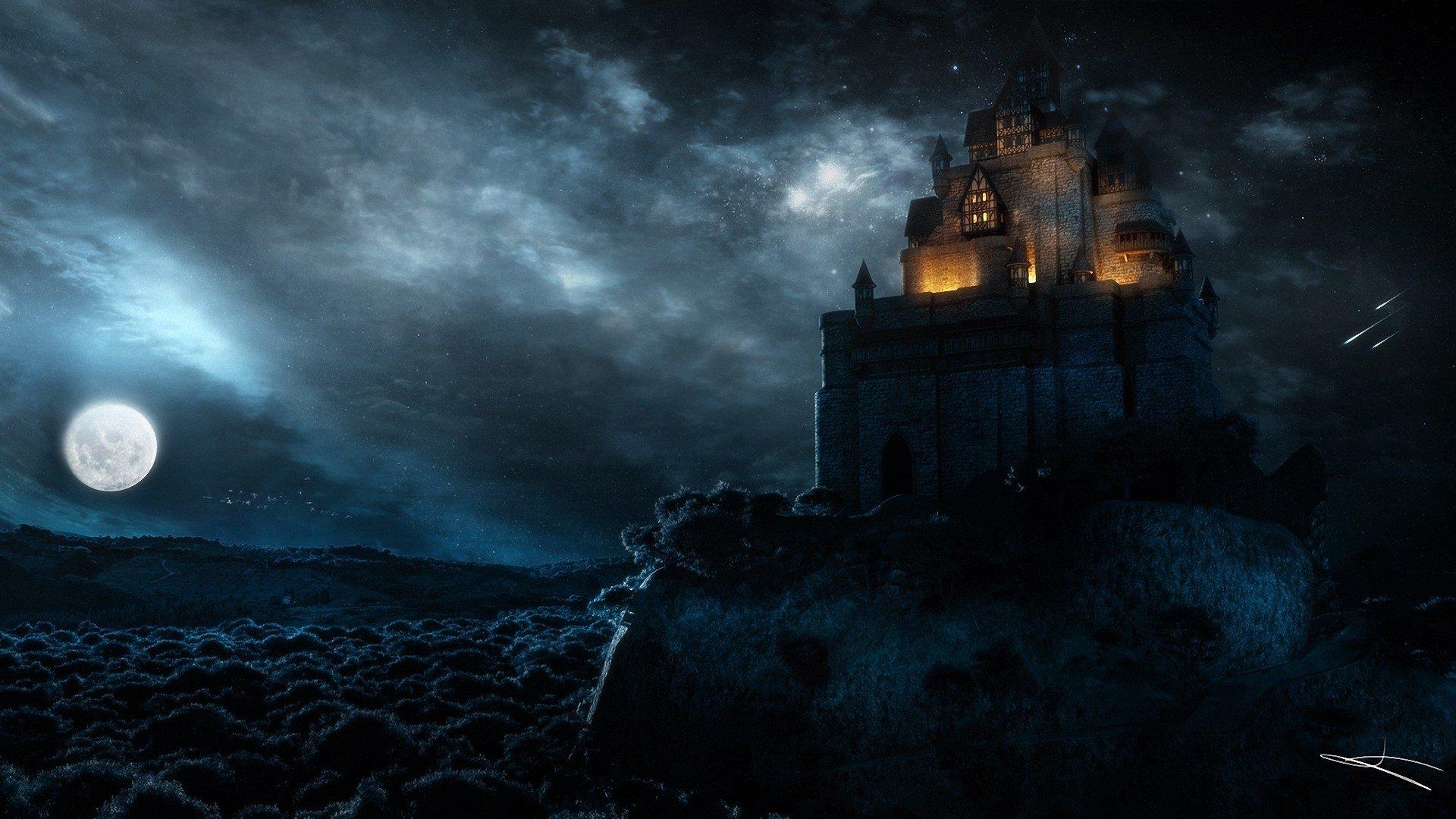 Замок в лучах света  № 917226 без смс