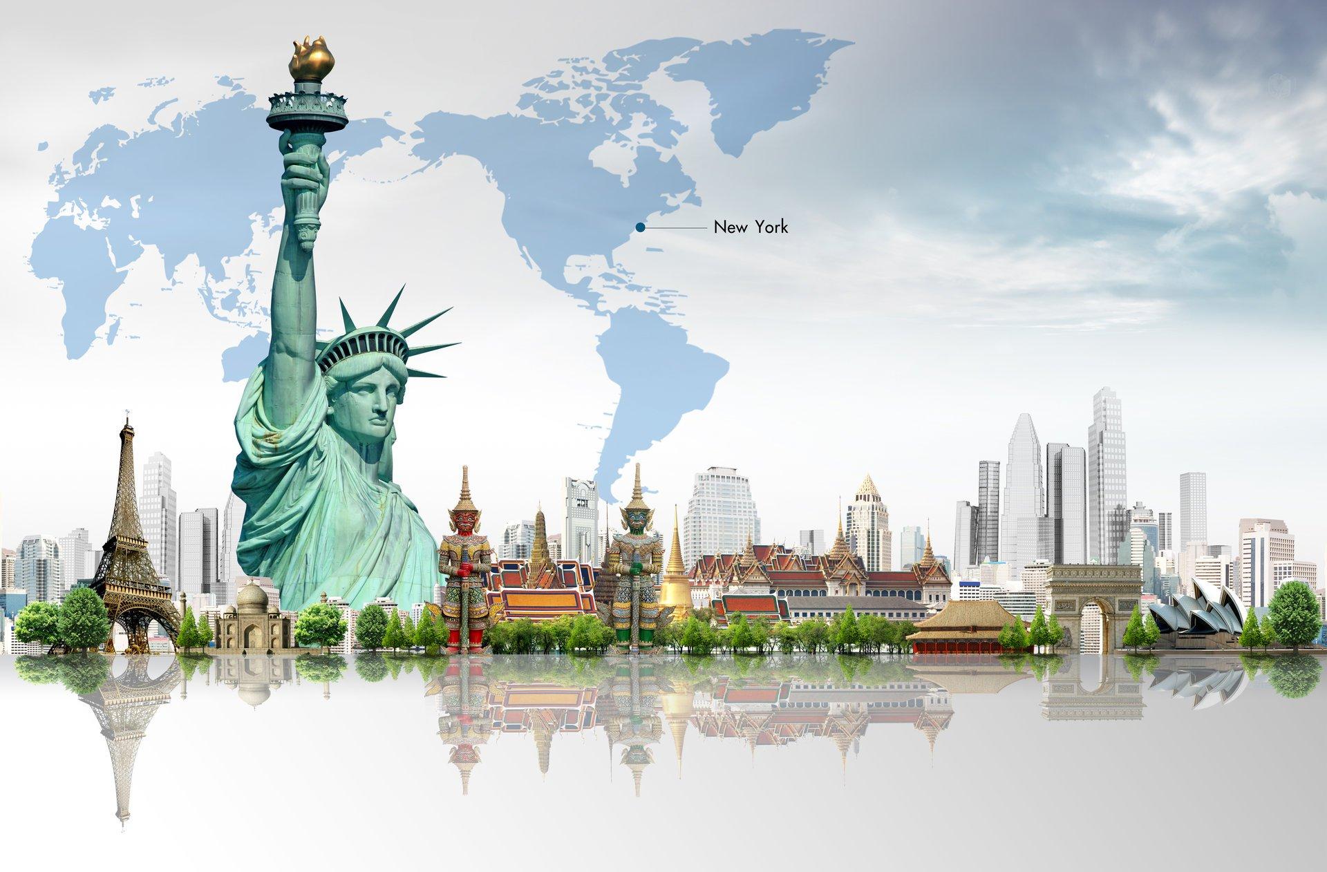 Открытки города страны мира