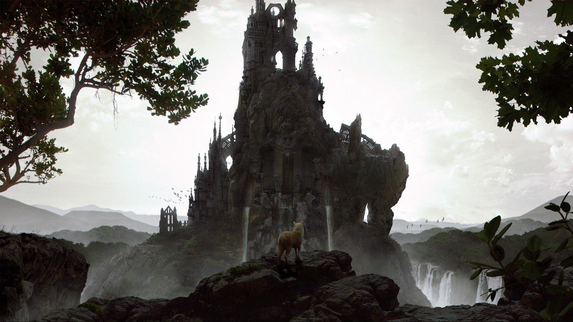 замок крепость обрыв туман бесплатно