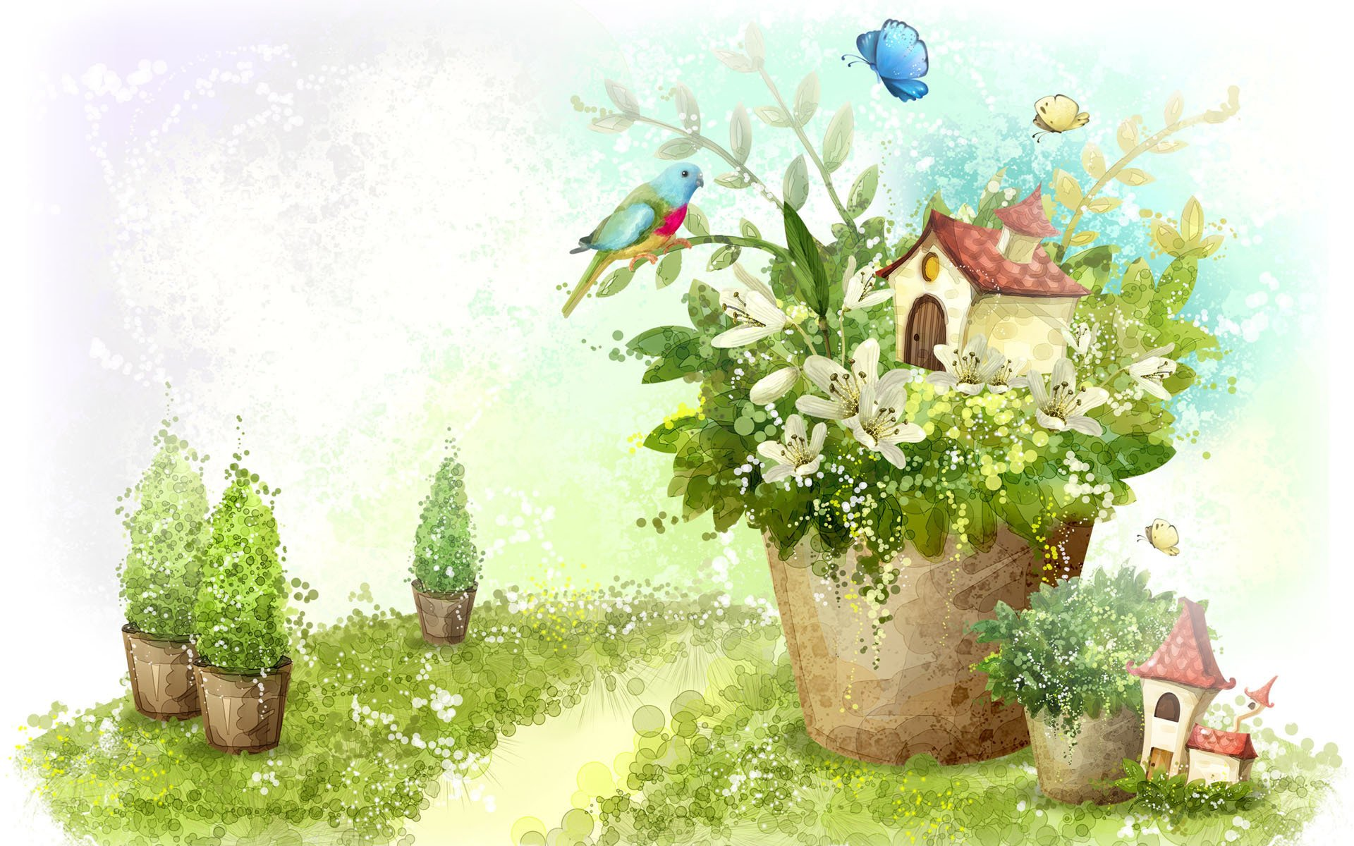 Дышу тобой, детская открытка весна