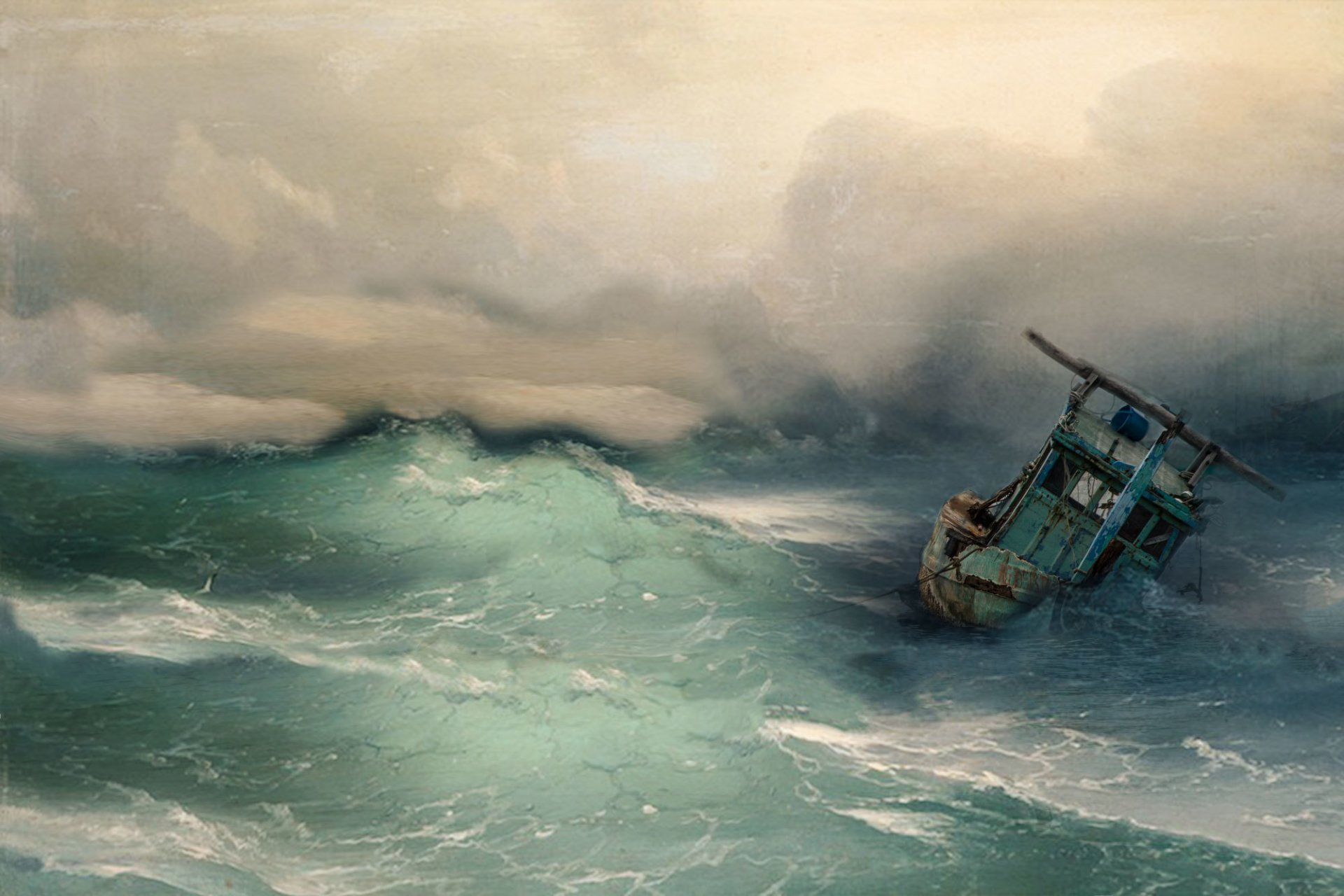 парусник в штормовом море фото этой статье представим