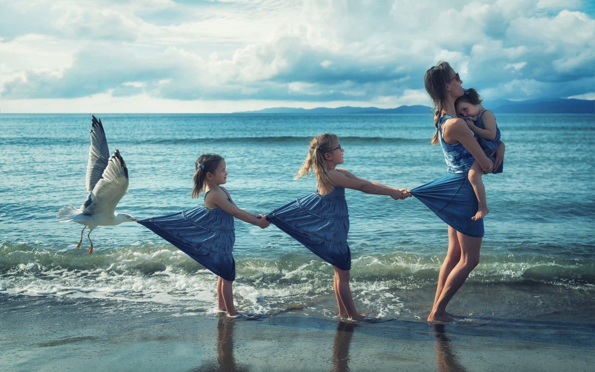 Женщина на море картинки прикольные, создания поздравительных