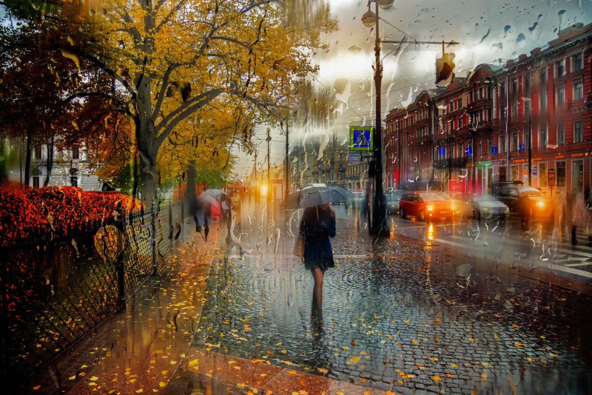 дождь питер обои для рабочего стола № 452370 без смс