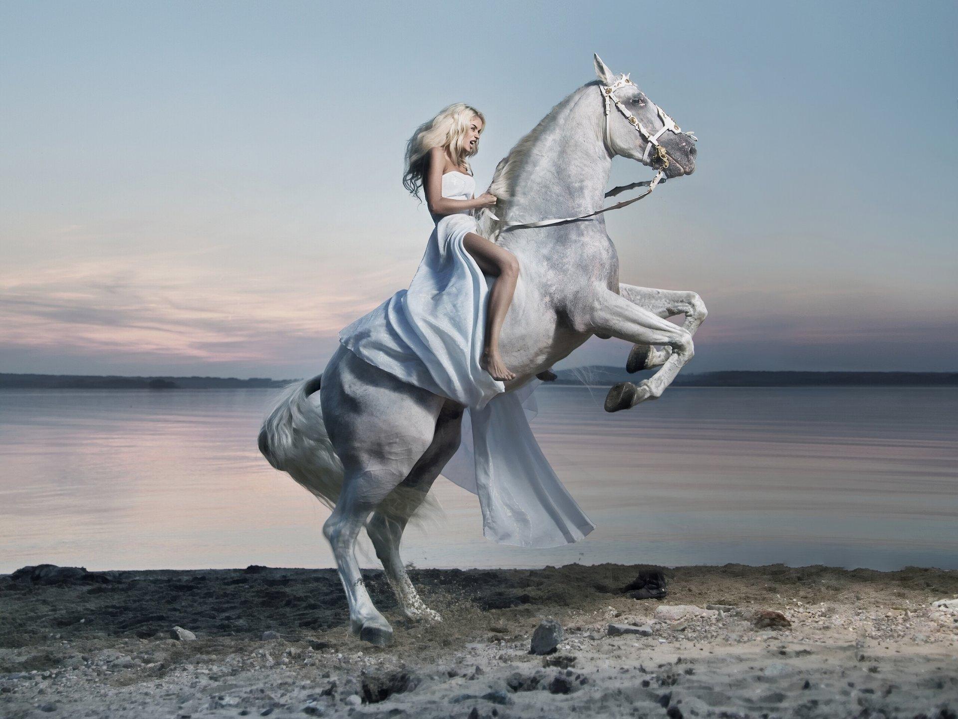 Картинки лошади и девушки