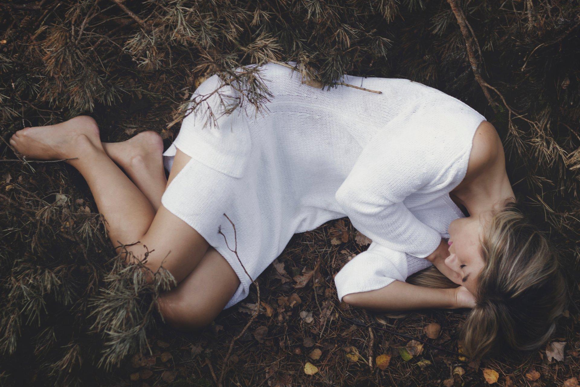 фото спят в лесу четко