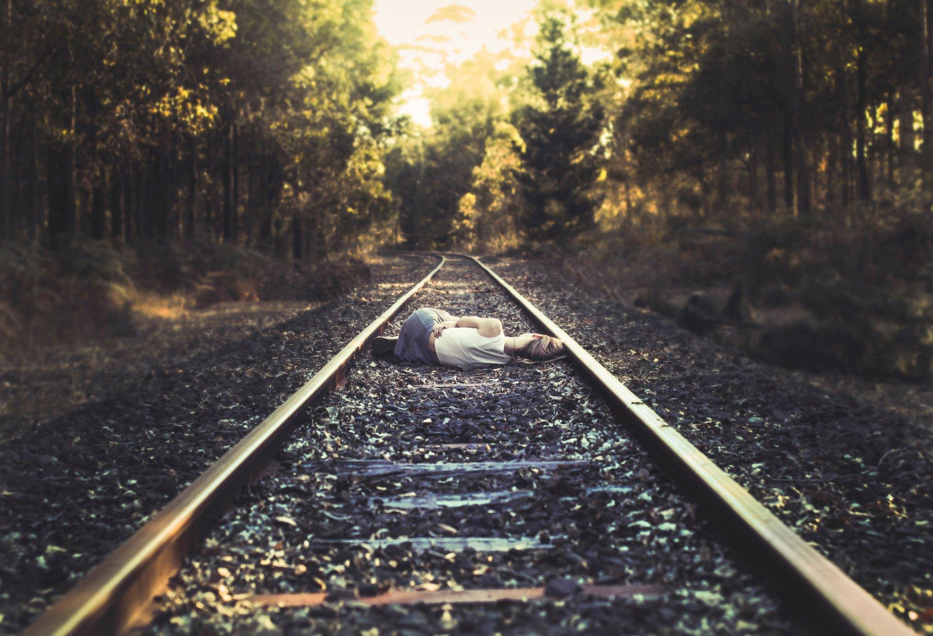 Обои путь, жд, Рельсы, солнца луч, шпалы. Разное foto 9