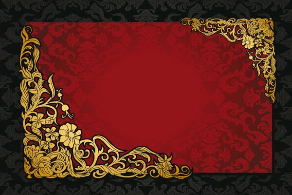 red dark golden vintage pattern gradient vector texture background винтаж ретро узор орнамент