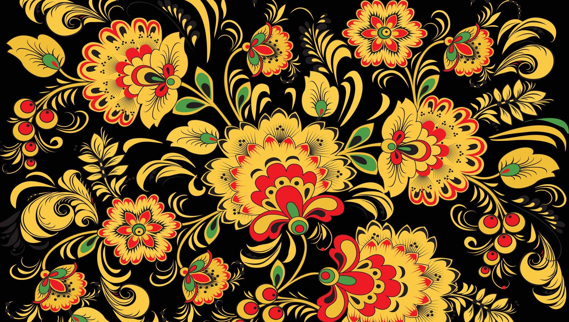 Цветы с узорами для обоев