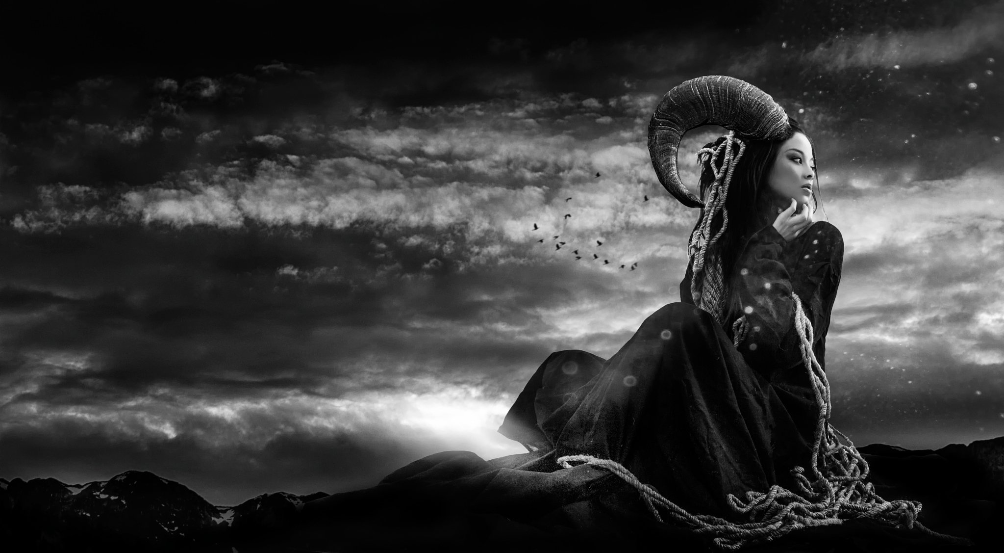 Текстом приколами, картинки черно белое фэнтези